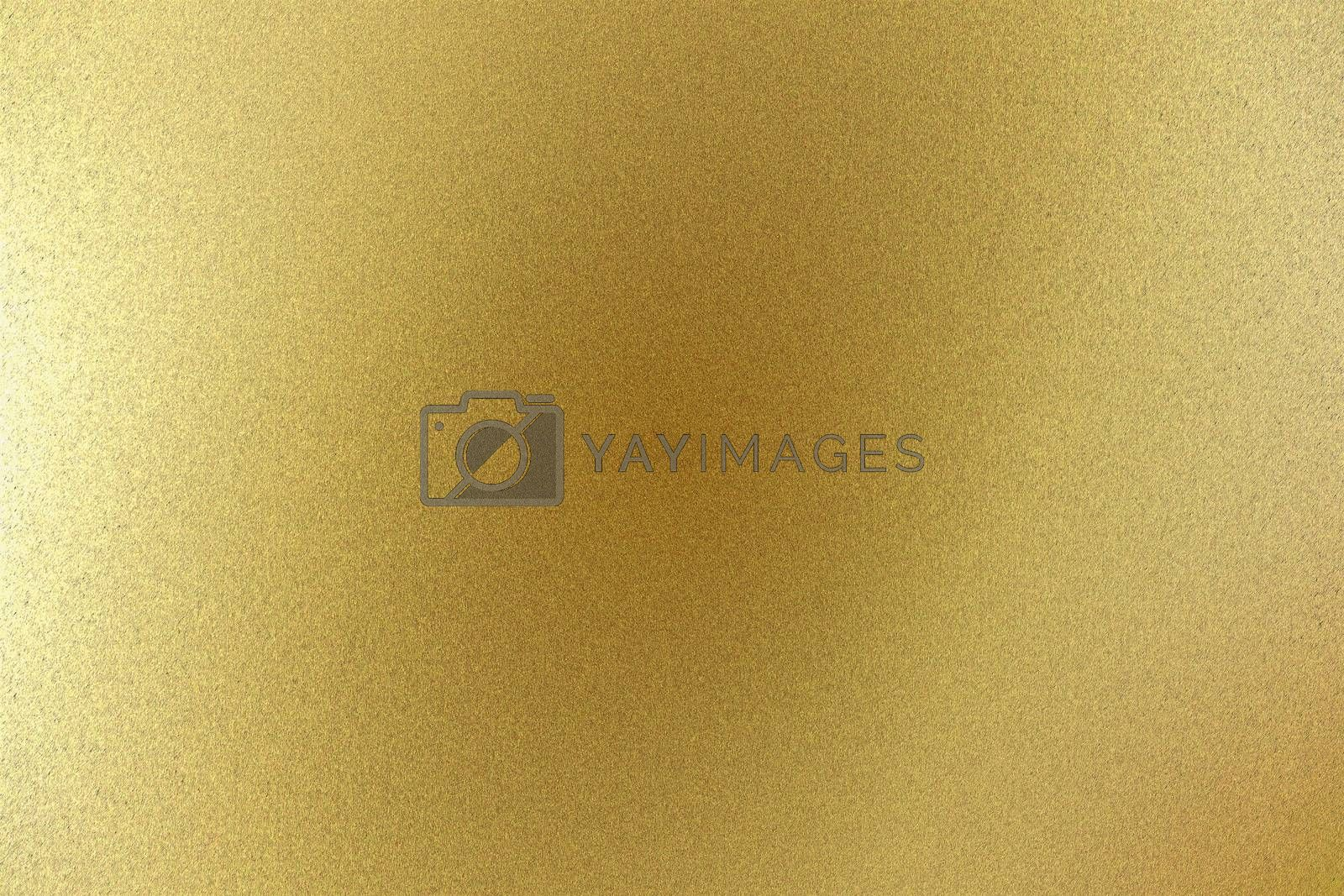 Royalty free image of Light yellow rough metal wall, abstract texture background by mouu007