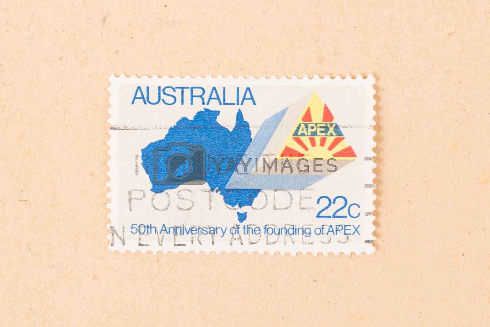 Royalty free image of AUSTRALIA - CIRCA 1980: A stamp printed in Australia shows the 5 by michaklootwijk