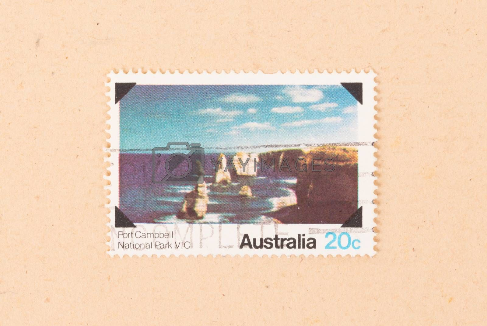 Royalty free image of AUSTRALIA - CIRCA 1980: A stamp printed in Australia shows Port  by michaklootwijk