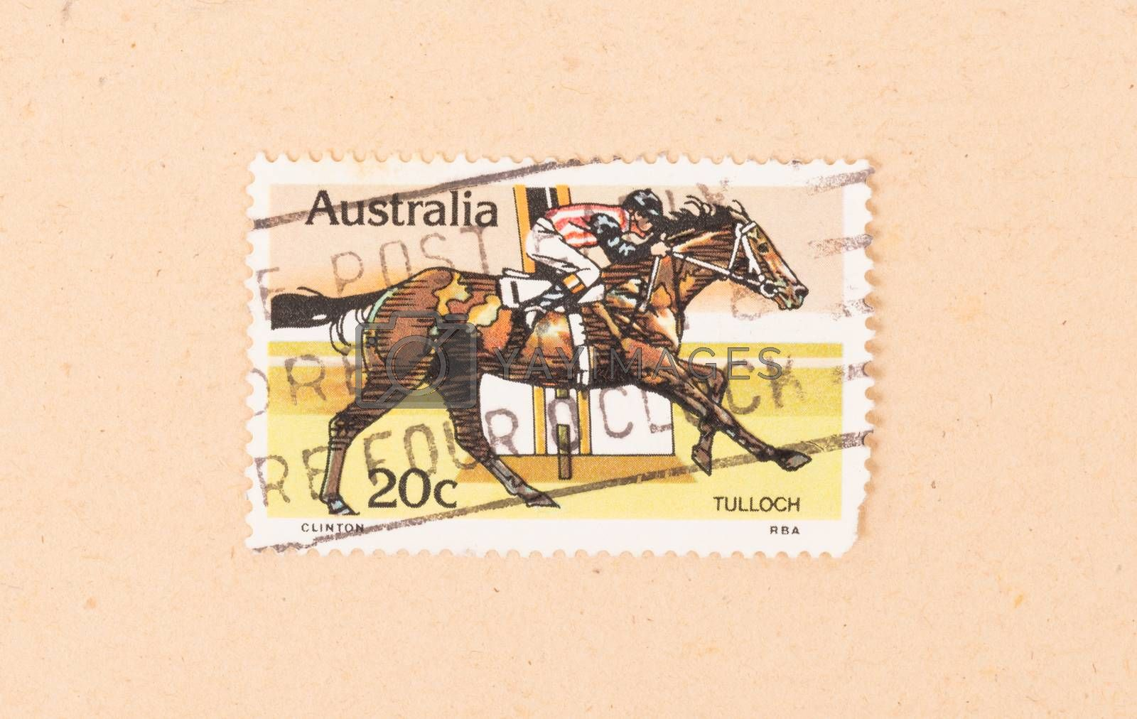 Royalty free image of AUSTRALIA - CIRCA 1980: A stamp printed in Australia shows a joc by michaklootwijk