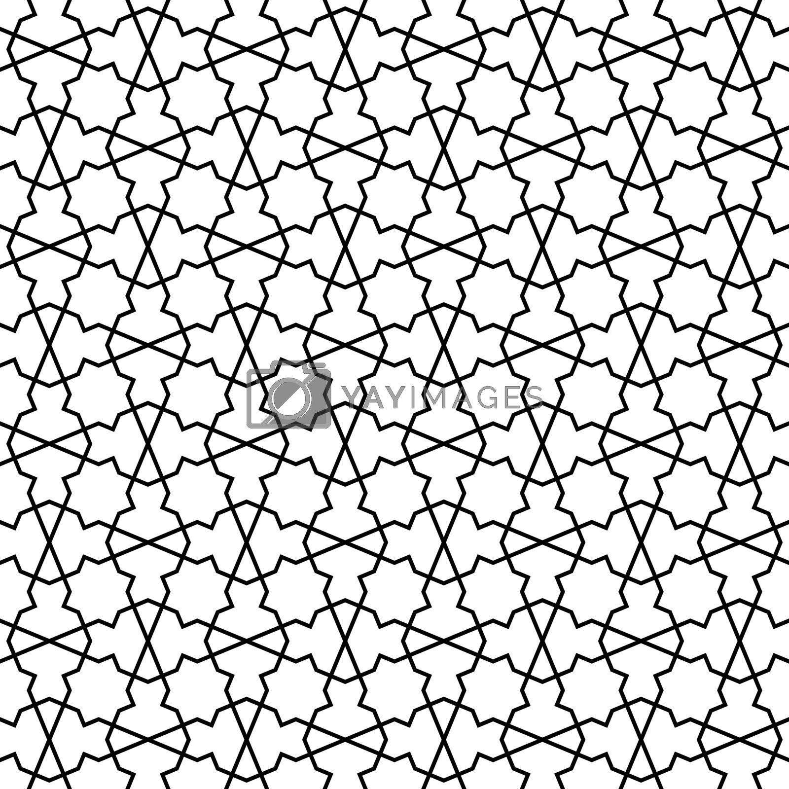 Royalty free image of Seamless arabic geometric ornament in black and white. by ALYOHA