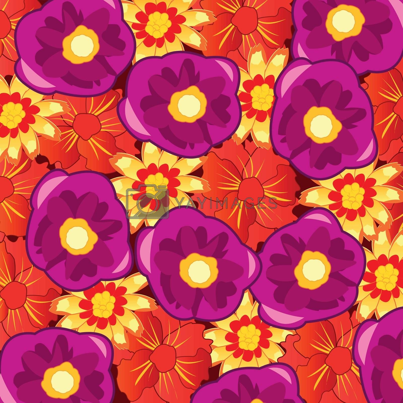 Royalty free image of Background from flower of the varied colour by cobol1964