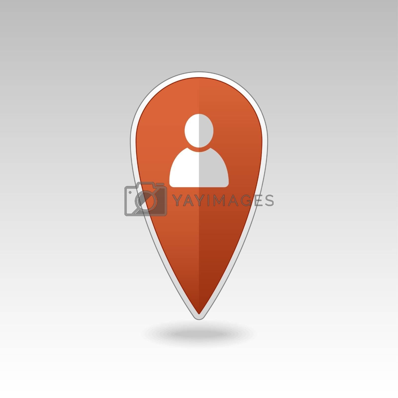 Royalty free image of Location people pin map icon. Map pointer by nosik