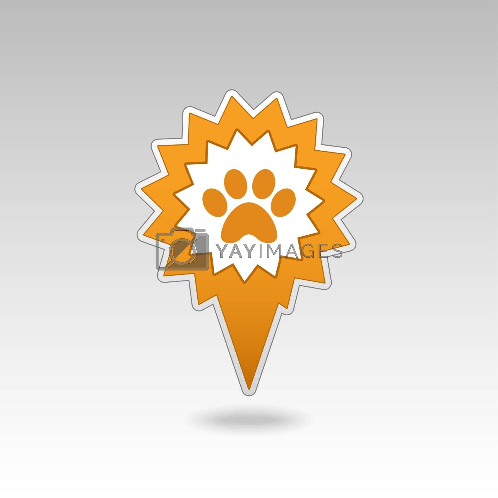 Royalty free image of Dog paw pin map icon. Map pointer. Map markers by nosik