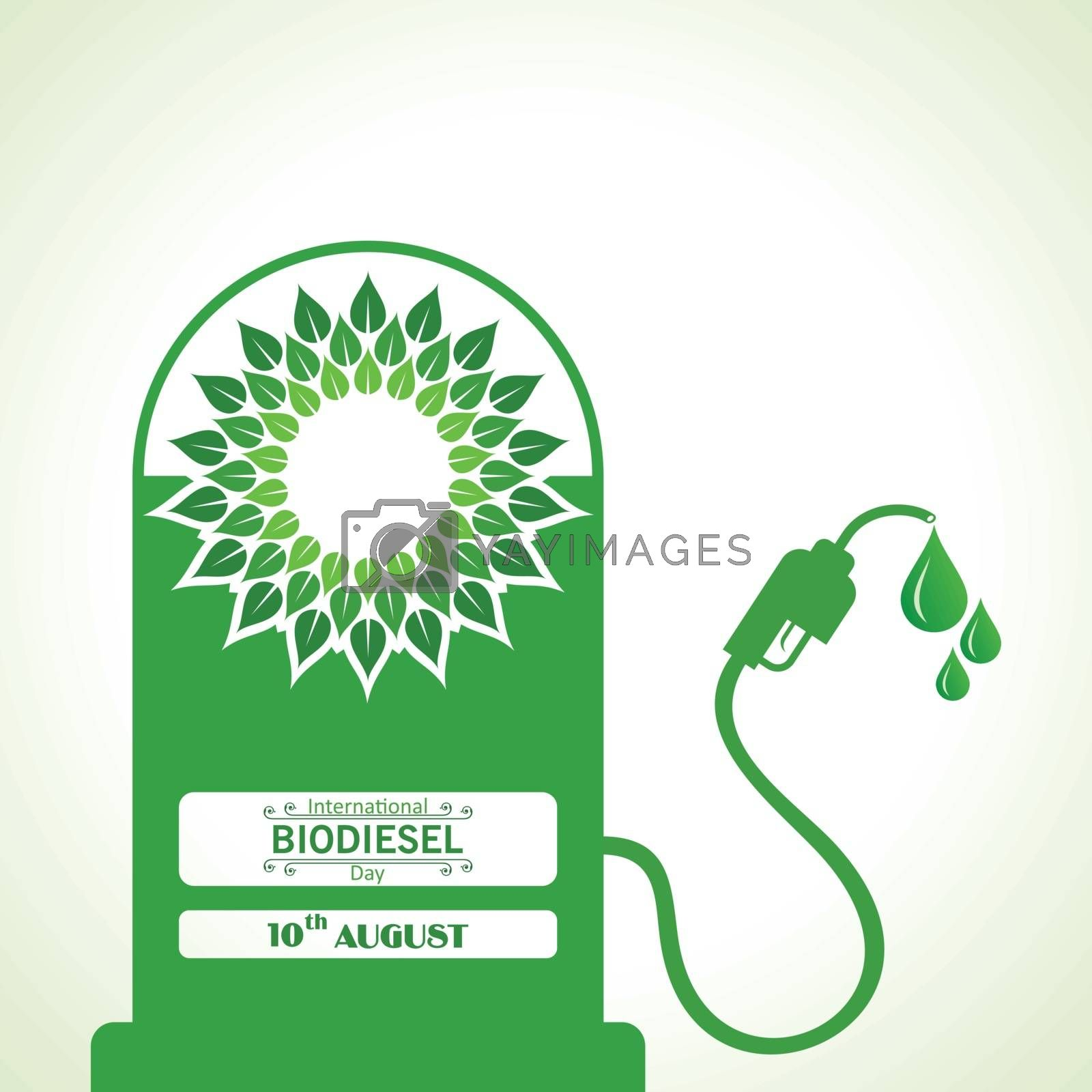 Royalty free image of International Biodiesel Day Greeting for Eco Environment - 10 August by graphicsdunia4you