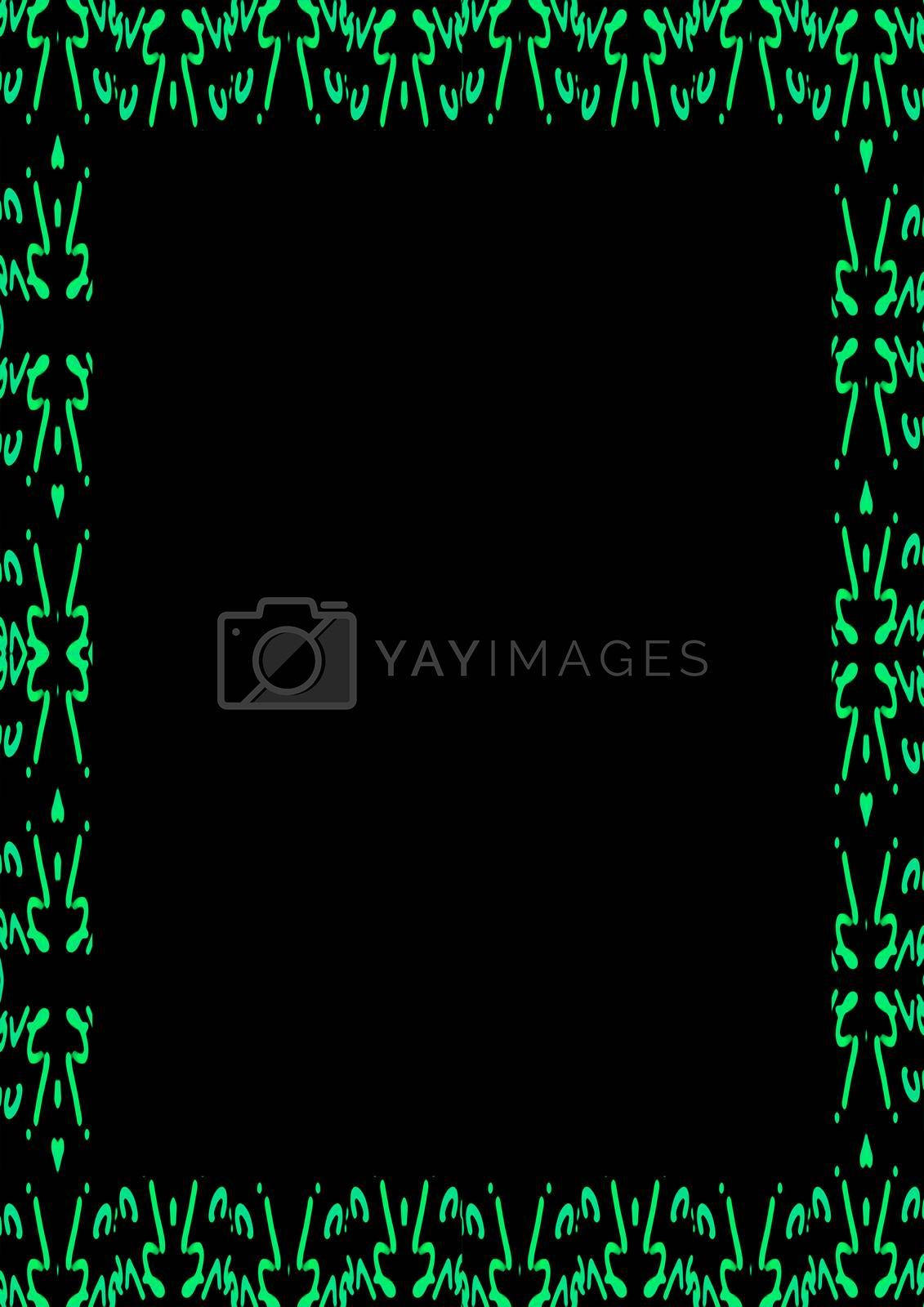 Royalty free image of Black Frame with Decorated Patterned Borders by DanFLCreative