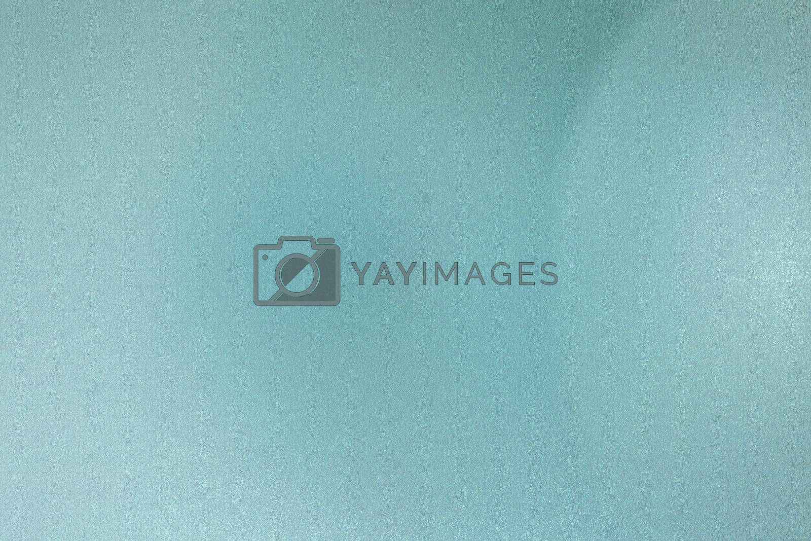 Royalty free image of Brushed teal wave metallic sheet, abstract texture background by mouu007