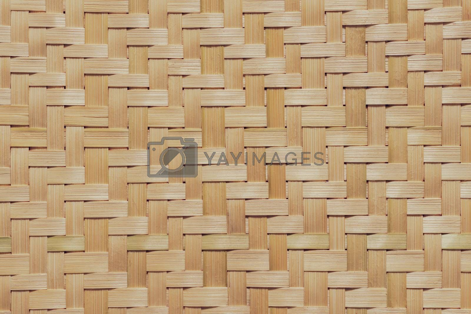 Royalty free image of Texture of bamboo wicker. Used to make various appliances In the by SaitanSainam