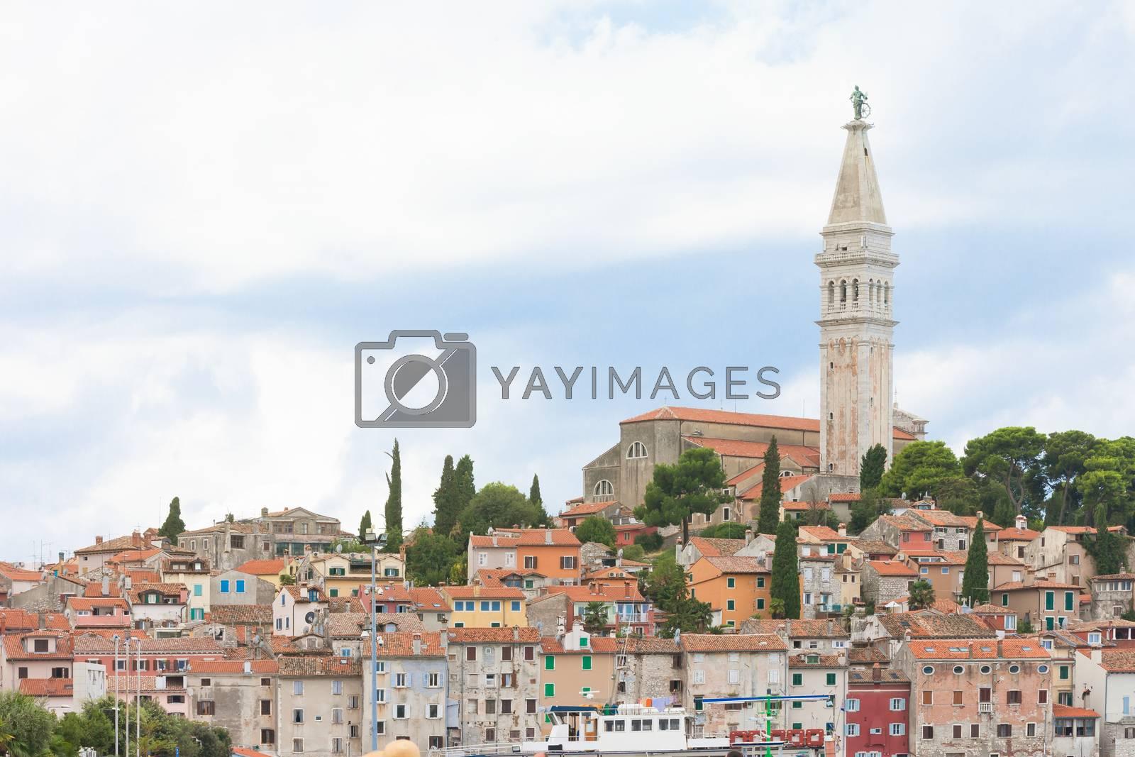 Rovinj, Istria, Croatia, Europe - View upon the old town of Rovinj