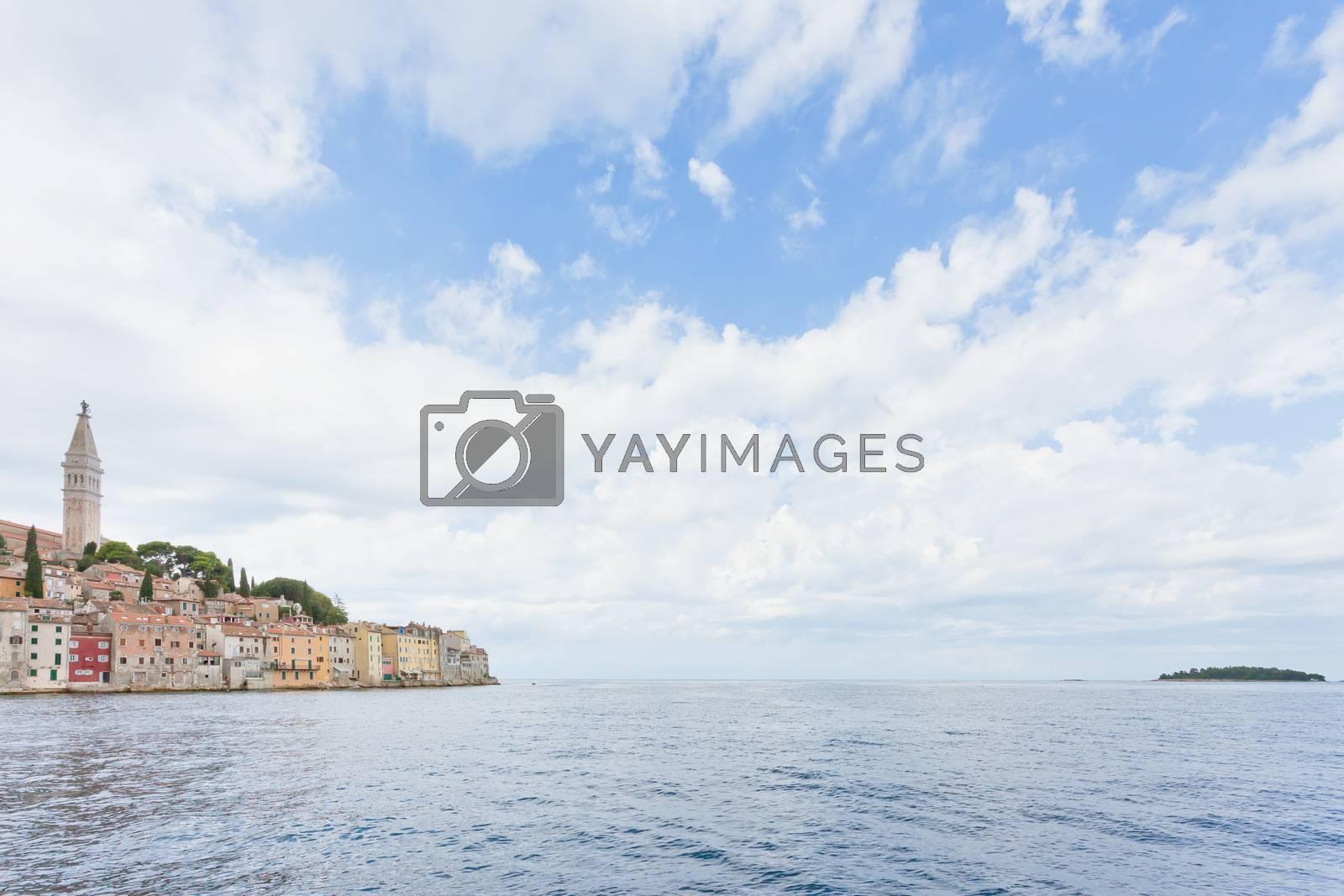 Rovinj, Istria, Croatia, Europe - Arriving in Rovinj across the Mediterranean Sea