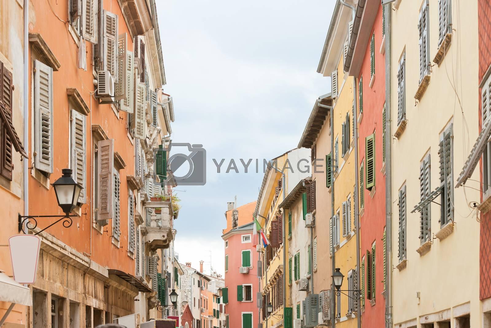 Rovinj, Istria, Croatia, Europe - Historic houses in the old town of Rovinj