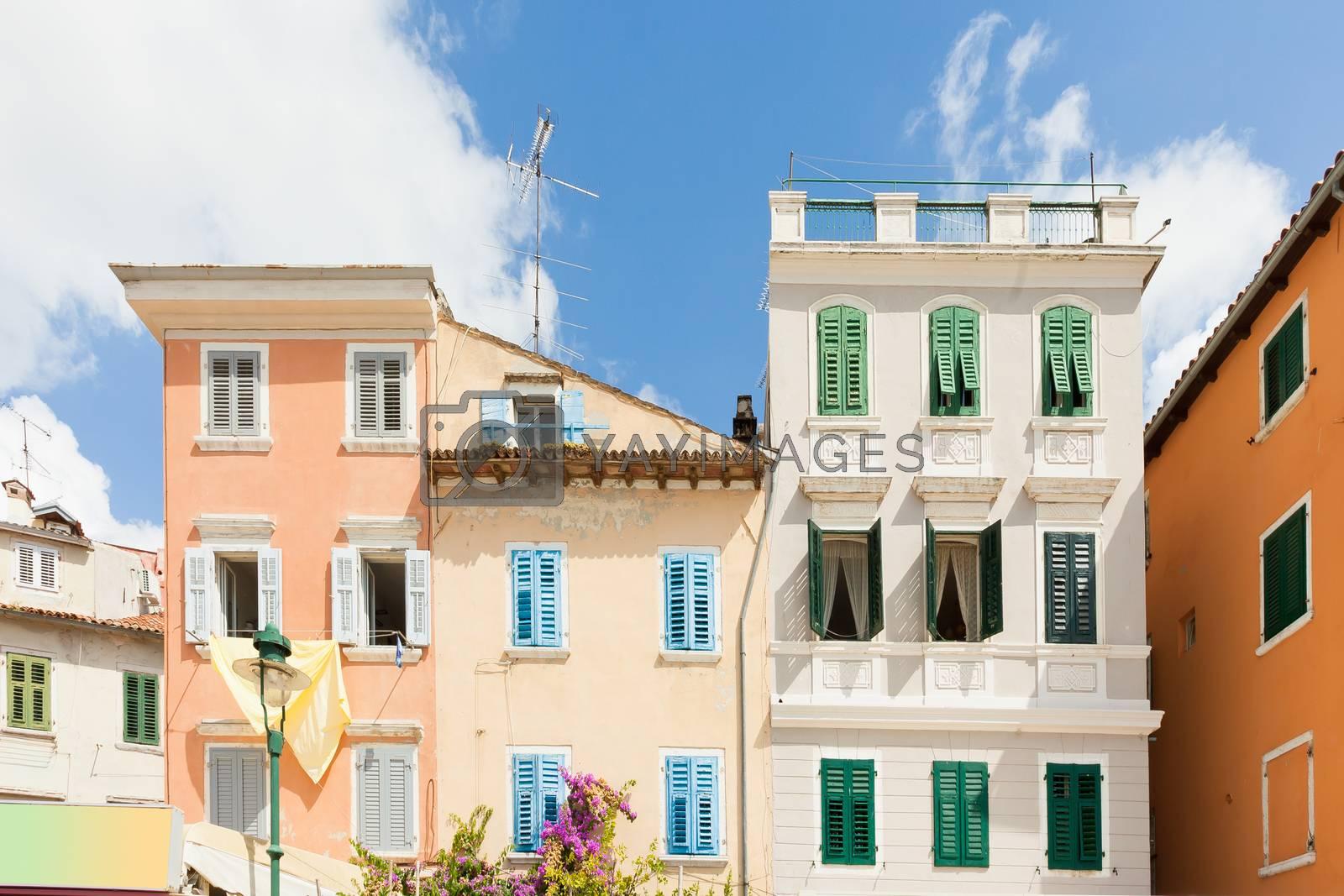 Rovinj, Istria, Croatia, Europe - Beautiful historic architecture in the streets of Rovinj