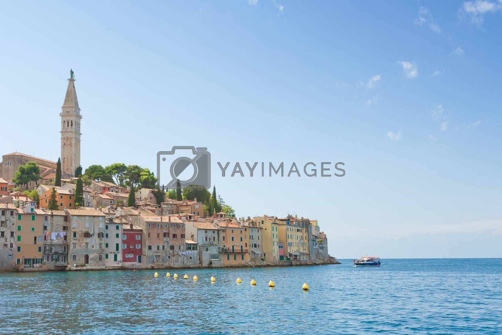 Rovinj, Istria, Croatia, Europe - Historic old town of Rovinj at the Mediterranean Sea