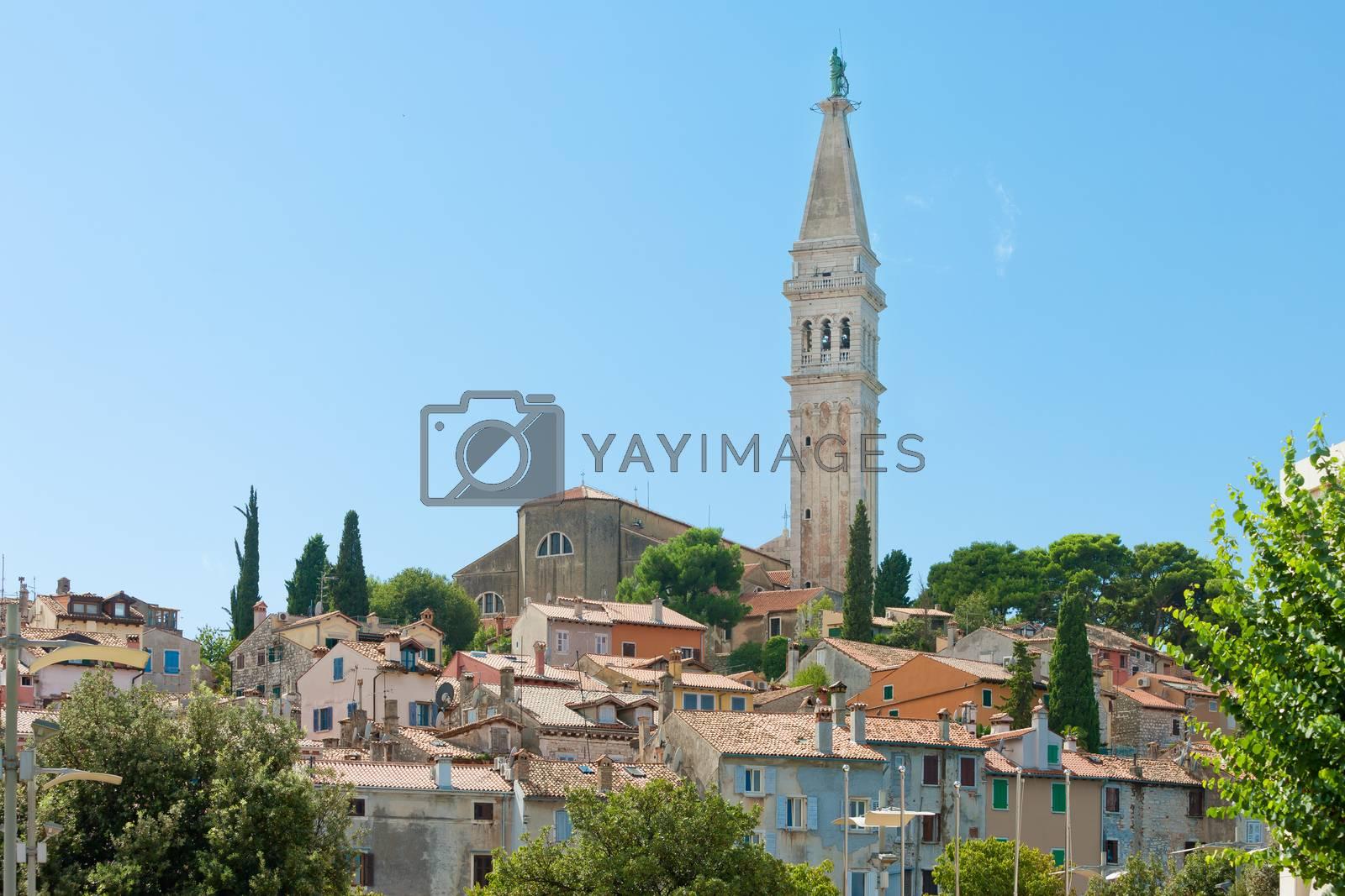 Rovinj, Istria, Croatia, Europe - Steeple of the church of Saint Euphemia