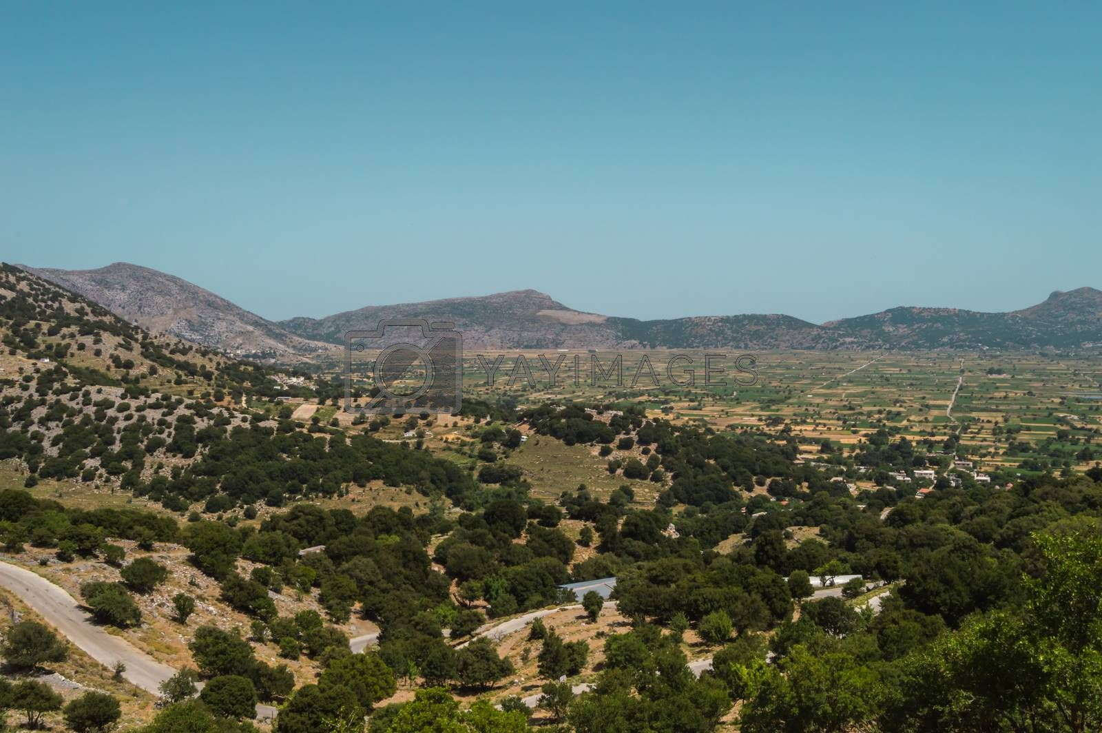 Royalty free image of View of the fertile Lassithi Plateau in Crete.  by Philou1000