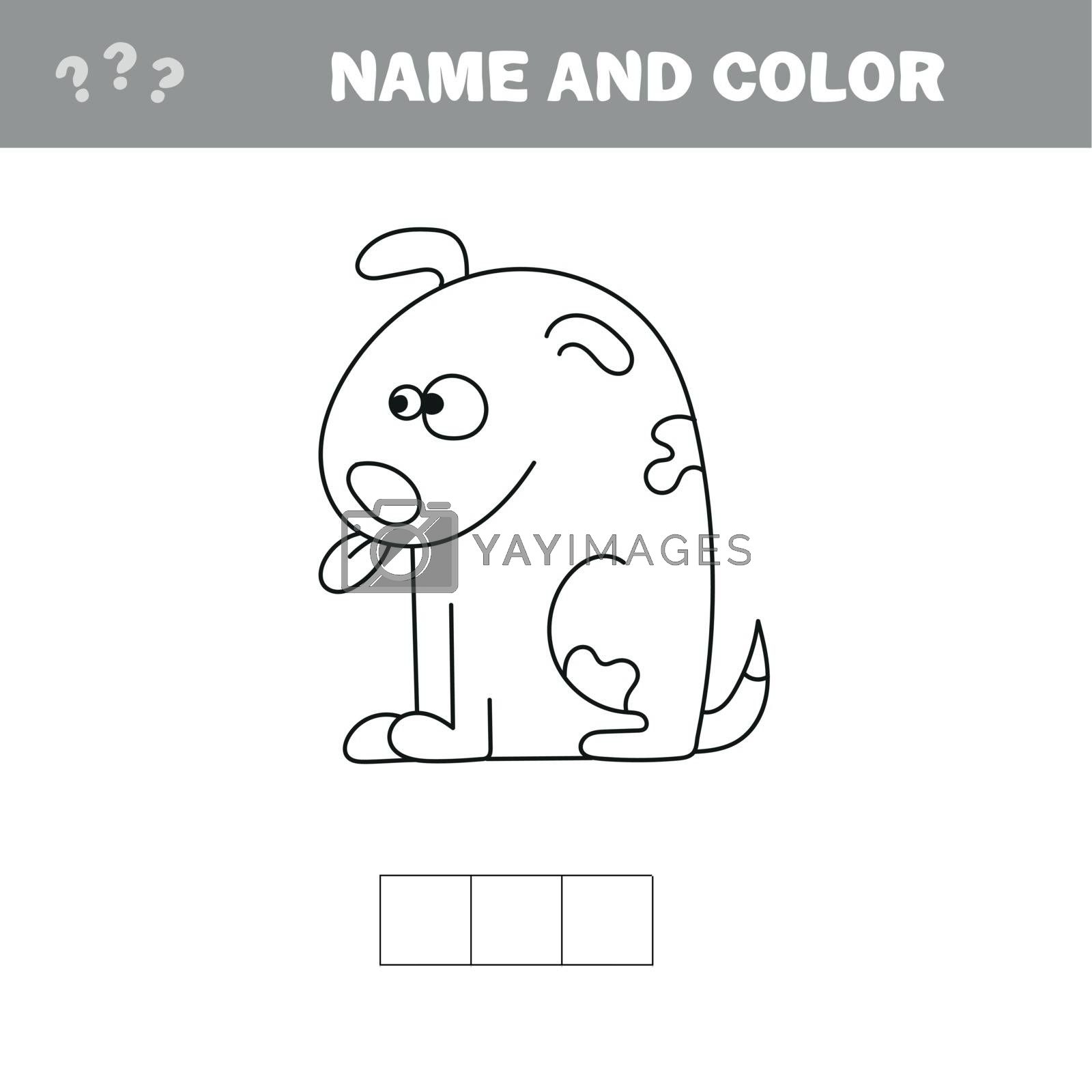 Royalty free image of Coloring page for kids. Dog Vector illustration. by natali_brill