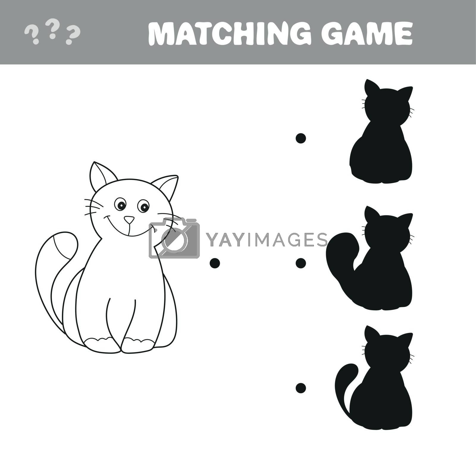 Royalty free image of Find the right shadow image. Educational games for kids. Cartoon cat by natali_brill