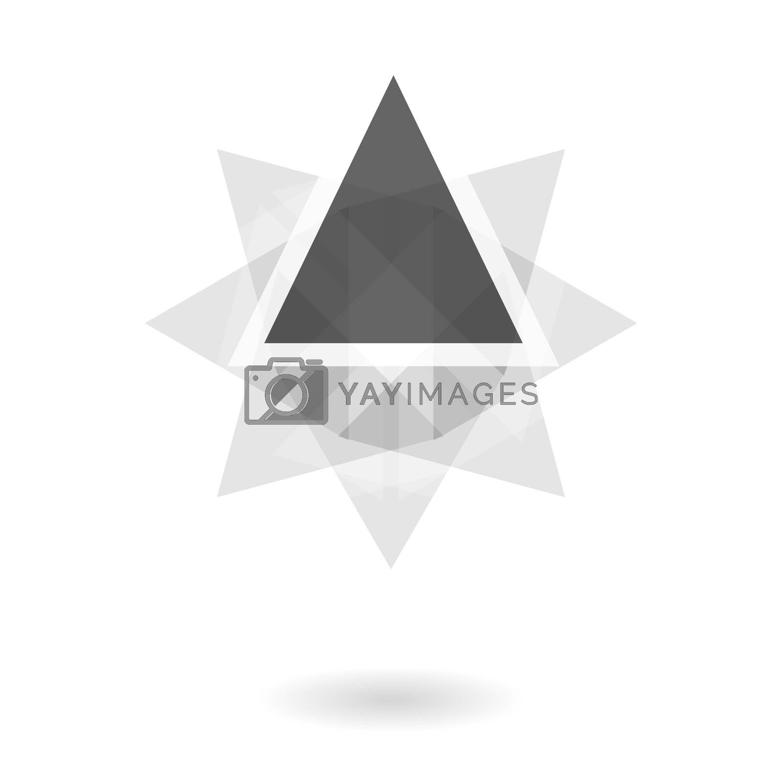Royalty free image of Abstract geometric pattern, black and white triangle rotation logo by mouu007