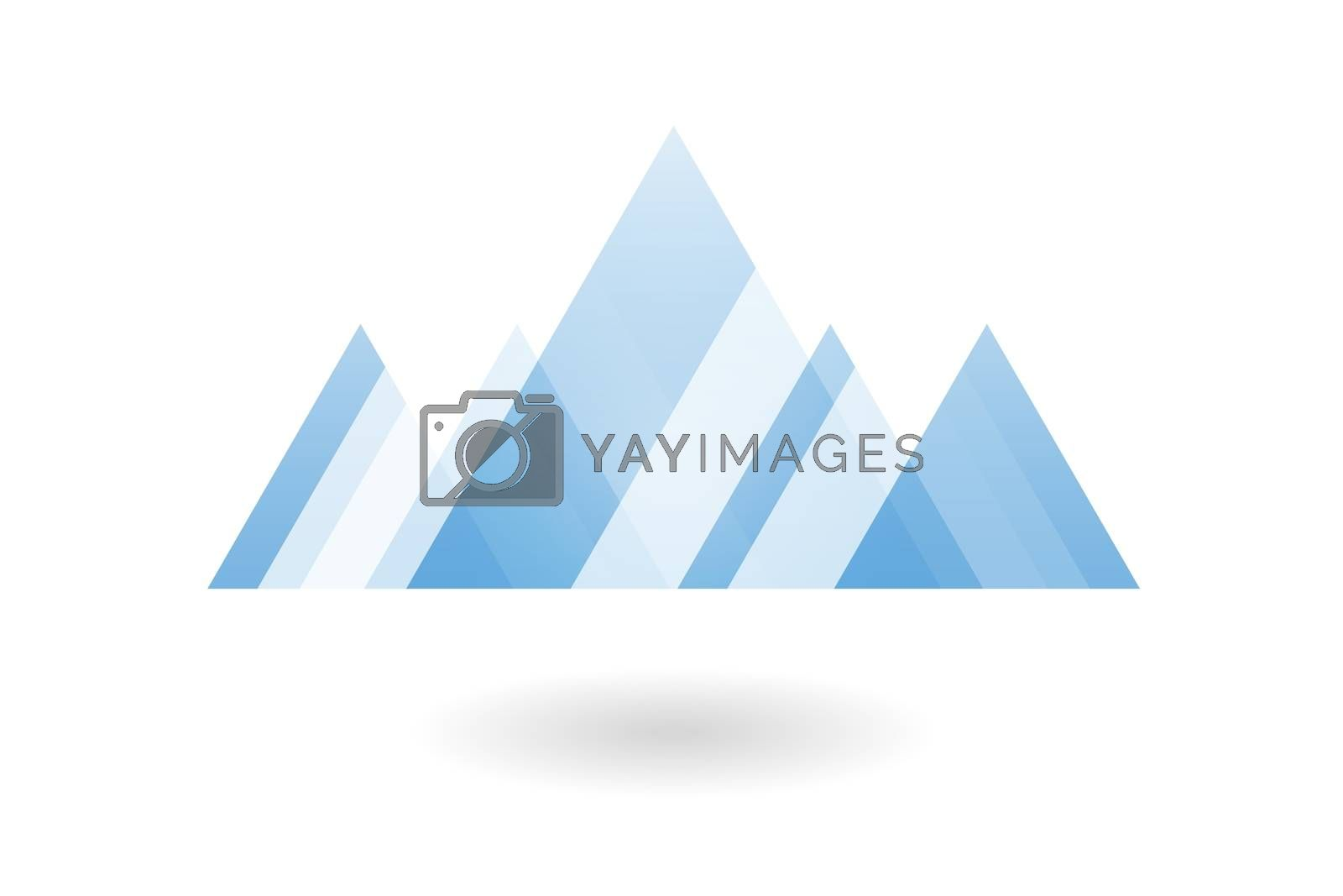 Royalty free image of Abstract geometric pattern, blue overlapping triangle mountain logo by mouu007
