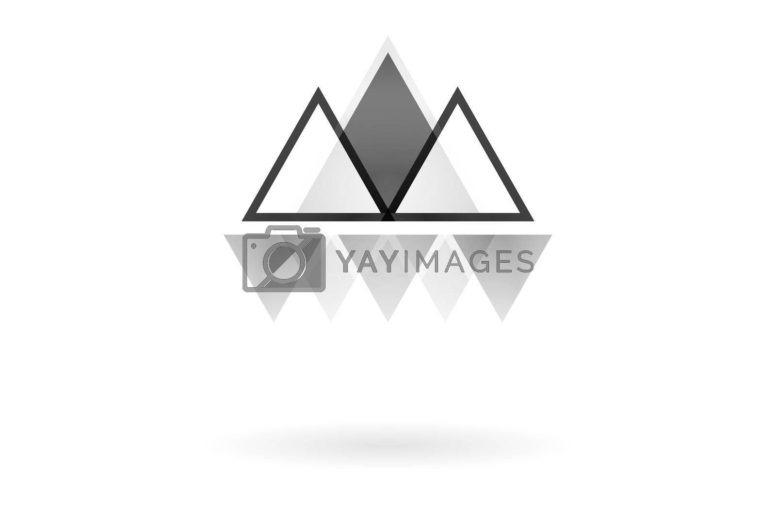 Royalty free image of Abstract geometric pattern, monochrome overlapping triangle mountain logo by mouu007