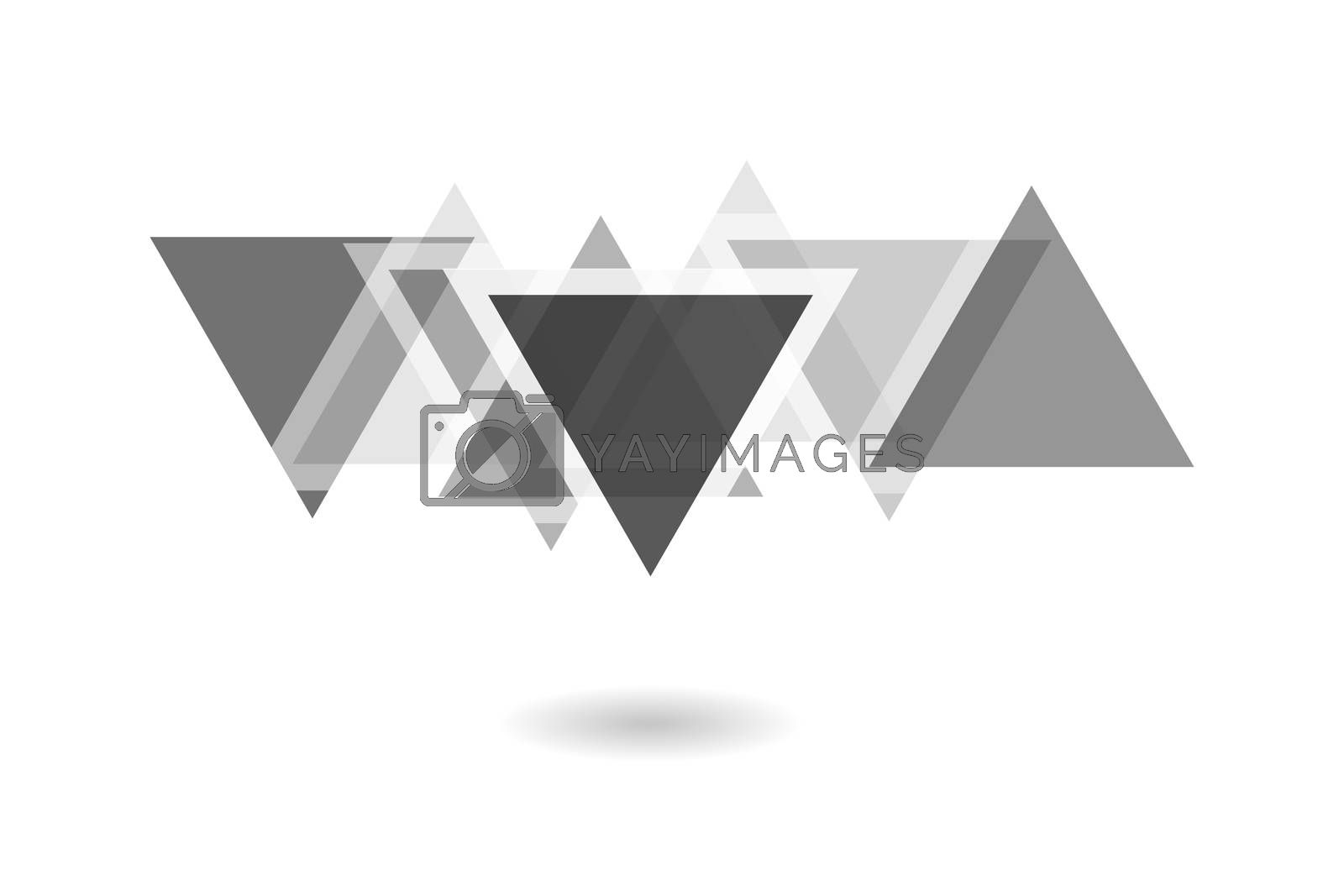 Royalty free image of Abstract geometric pattern, black and white overlapping triangle logo by mouu007