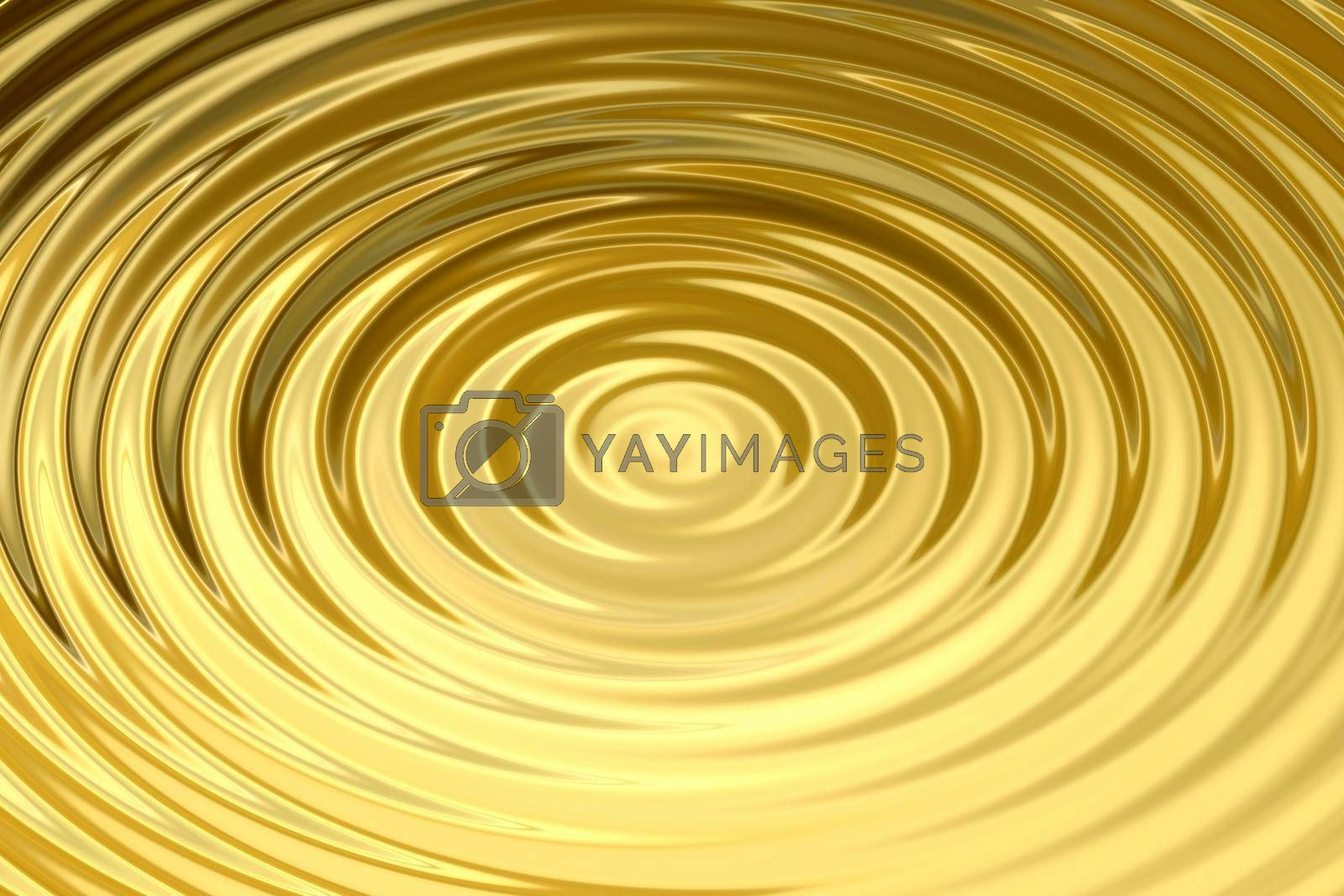 Royalty free image of Glowing gold water ring with liquid ripple, abstract background texture by mouu007