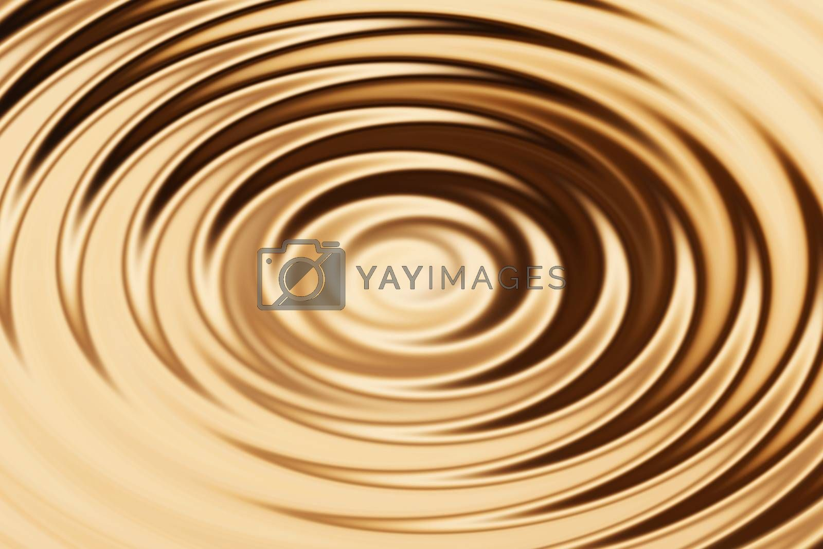 Royalty free image of Blurred bronze water ring with liquid ripple, abstract background texture by mouu007