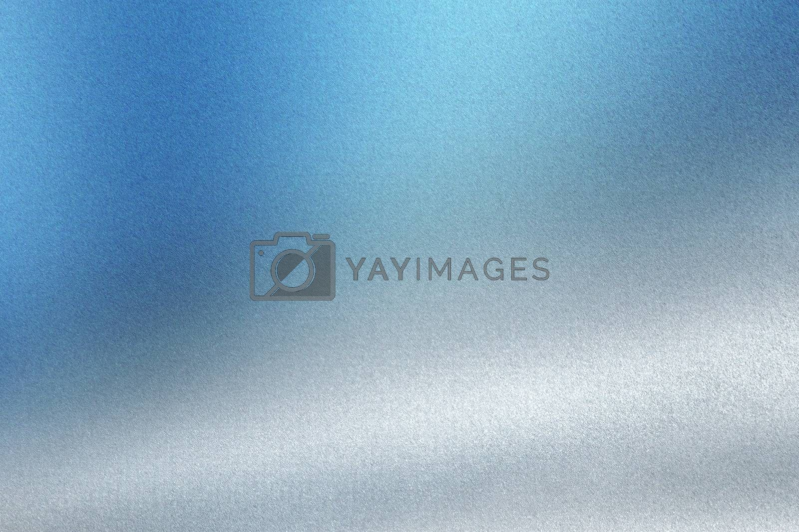 Royalty free image of Brushed blue white metal wall, abstract texture background by mouu007