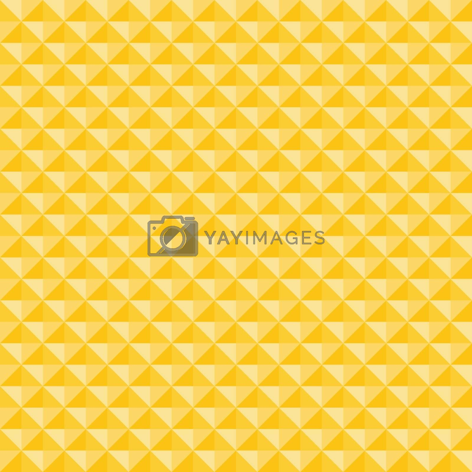 Yellow geometric triangles pattern seamless background and texture. Vector illustration