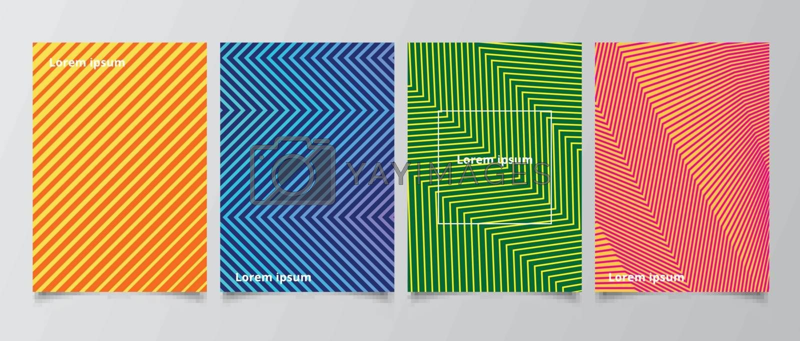 Template minimal covers design abstract pattern gradient background. Modern geometric design gradient lines shapes effect you can use for poster, brochure cover, template presentation or leaflet