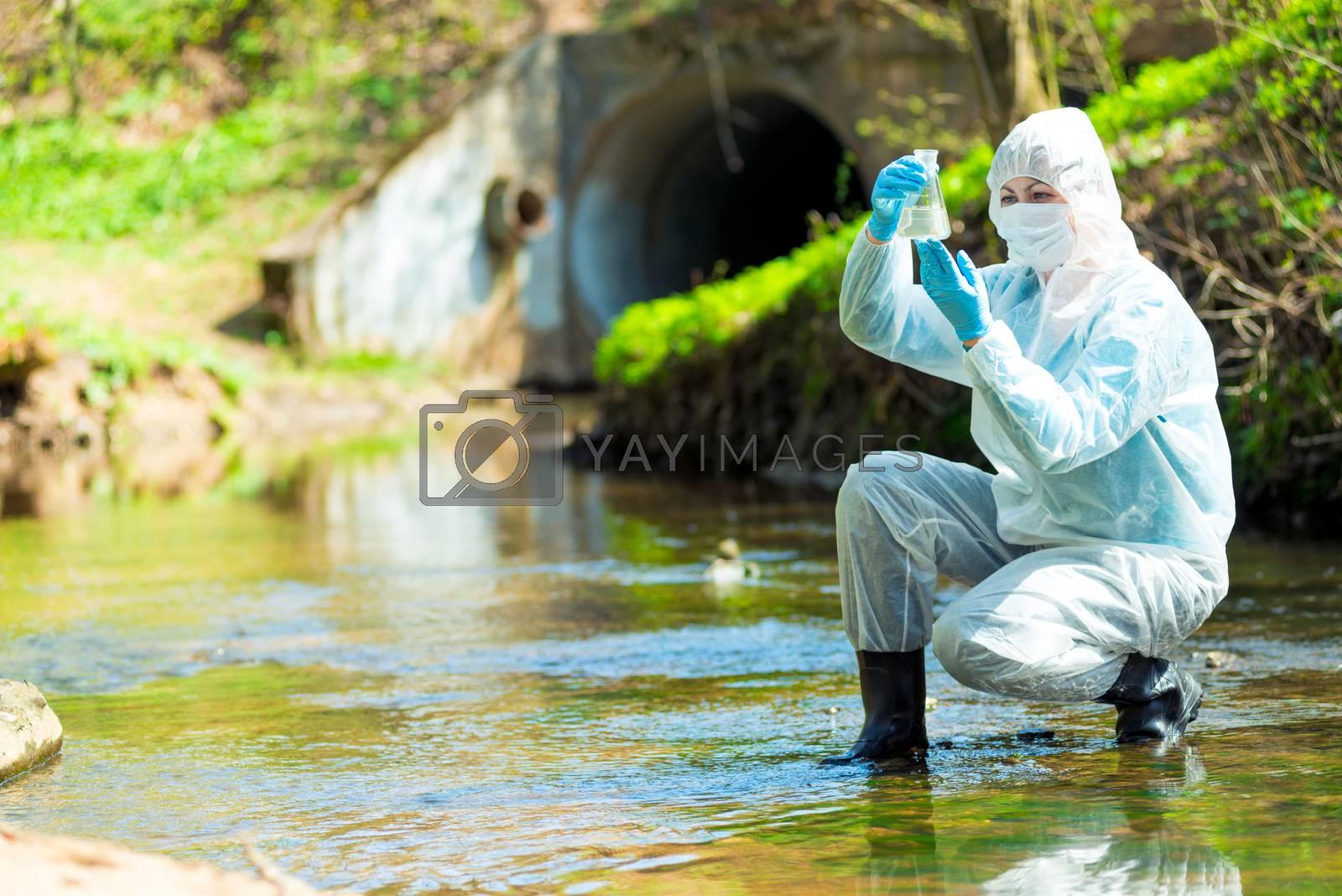 hazardous contaminated sewage water, environmentalist job