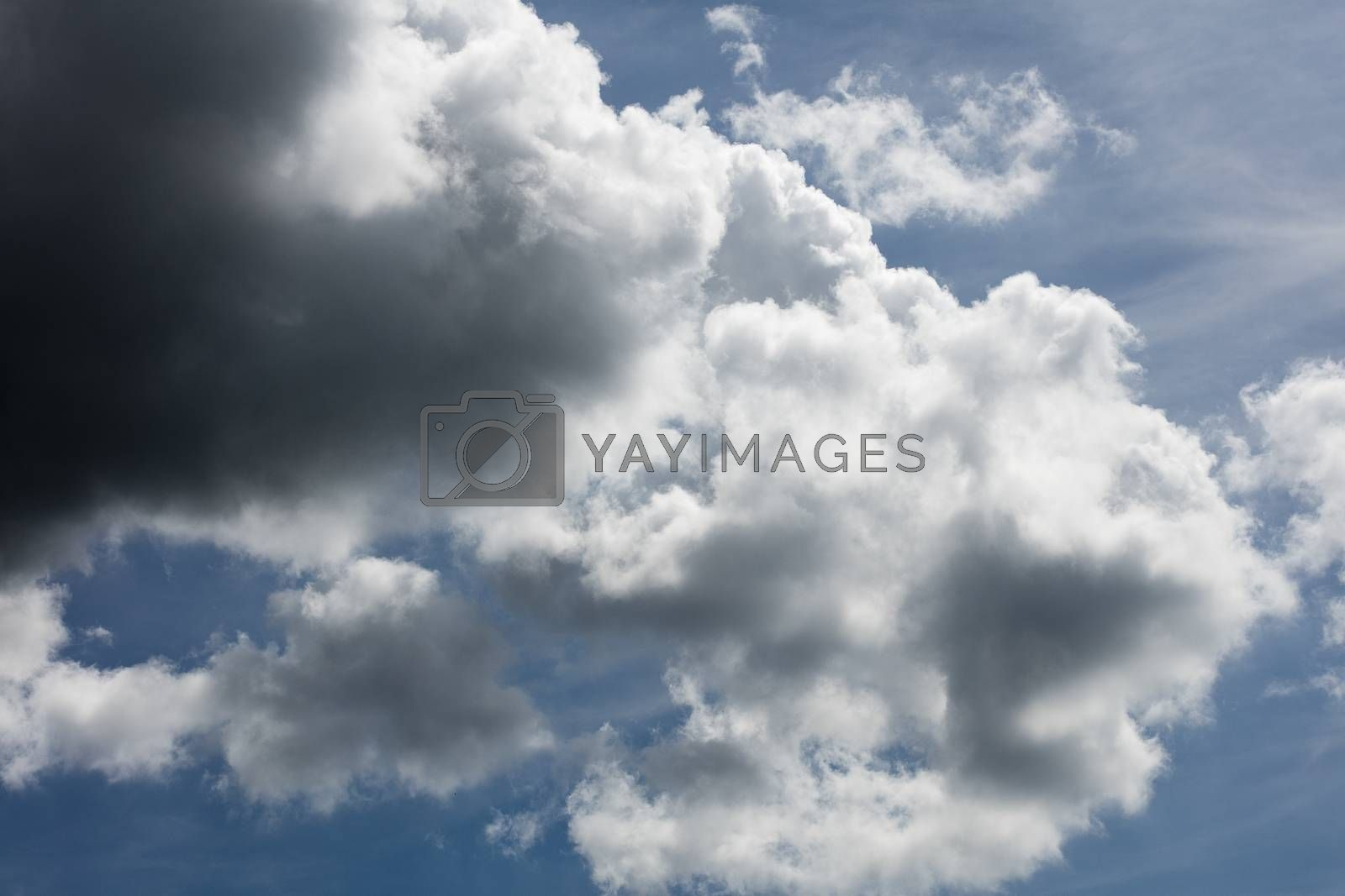 Dramatic blue sky with clouds summer mood background fine art in high quality prints products fifty megapixels by BakalaeroZz Photography