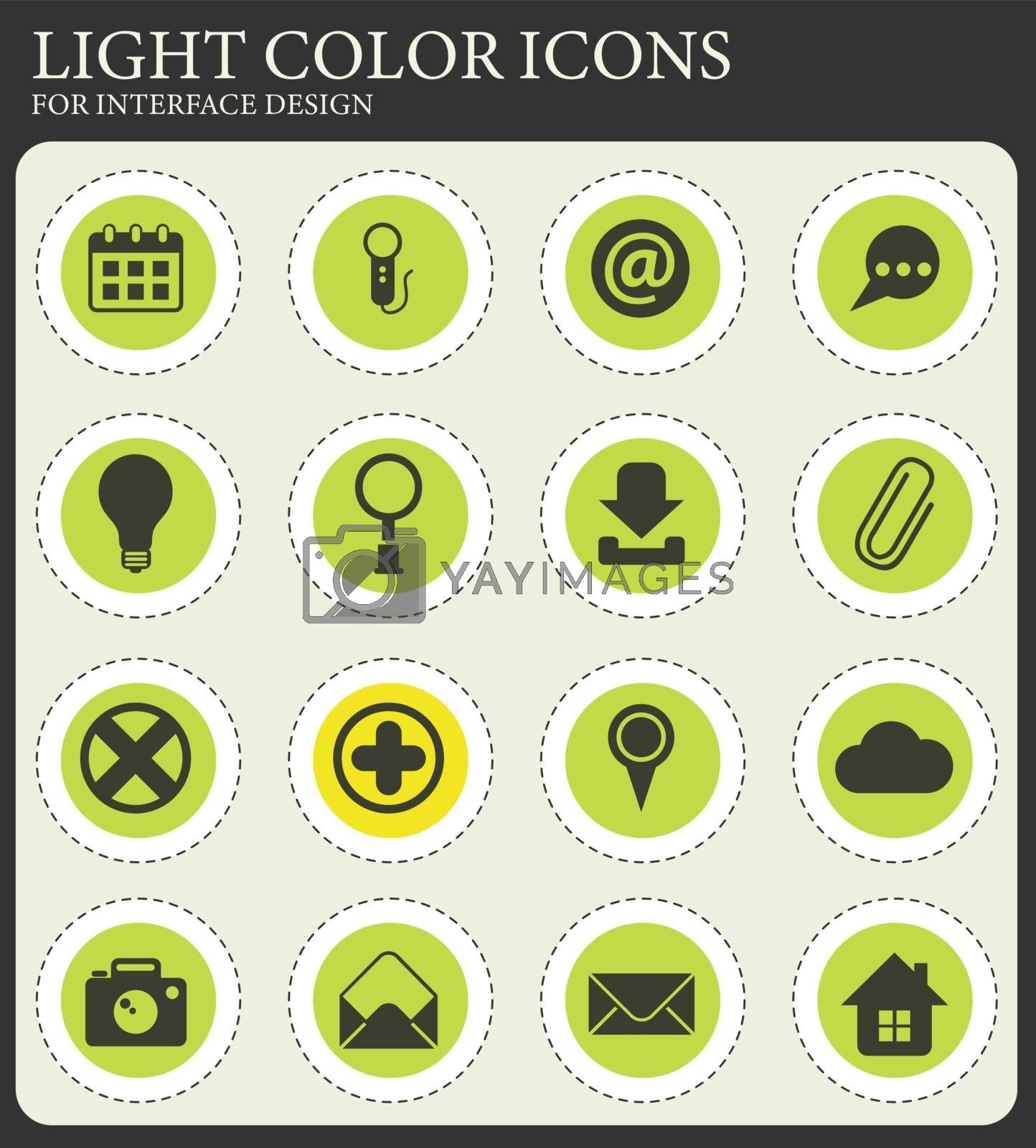 user interface vector icons for web and user interface design