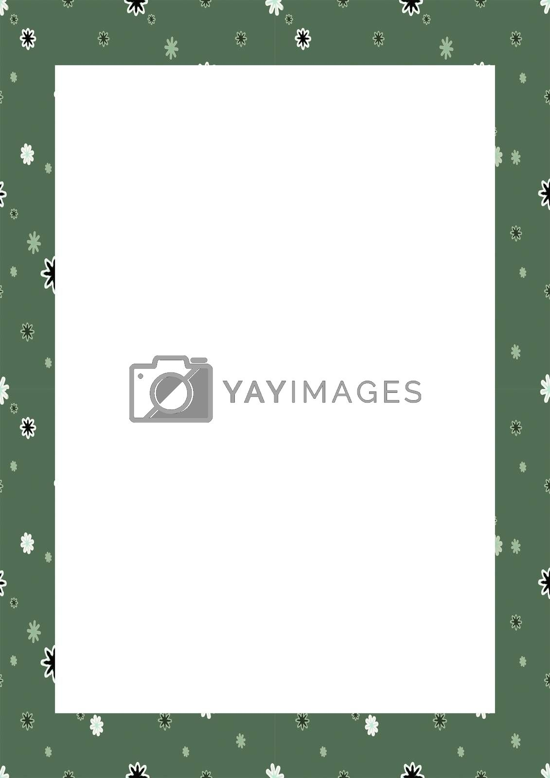 White Frame with Decorated Borders by DanFLCreative