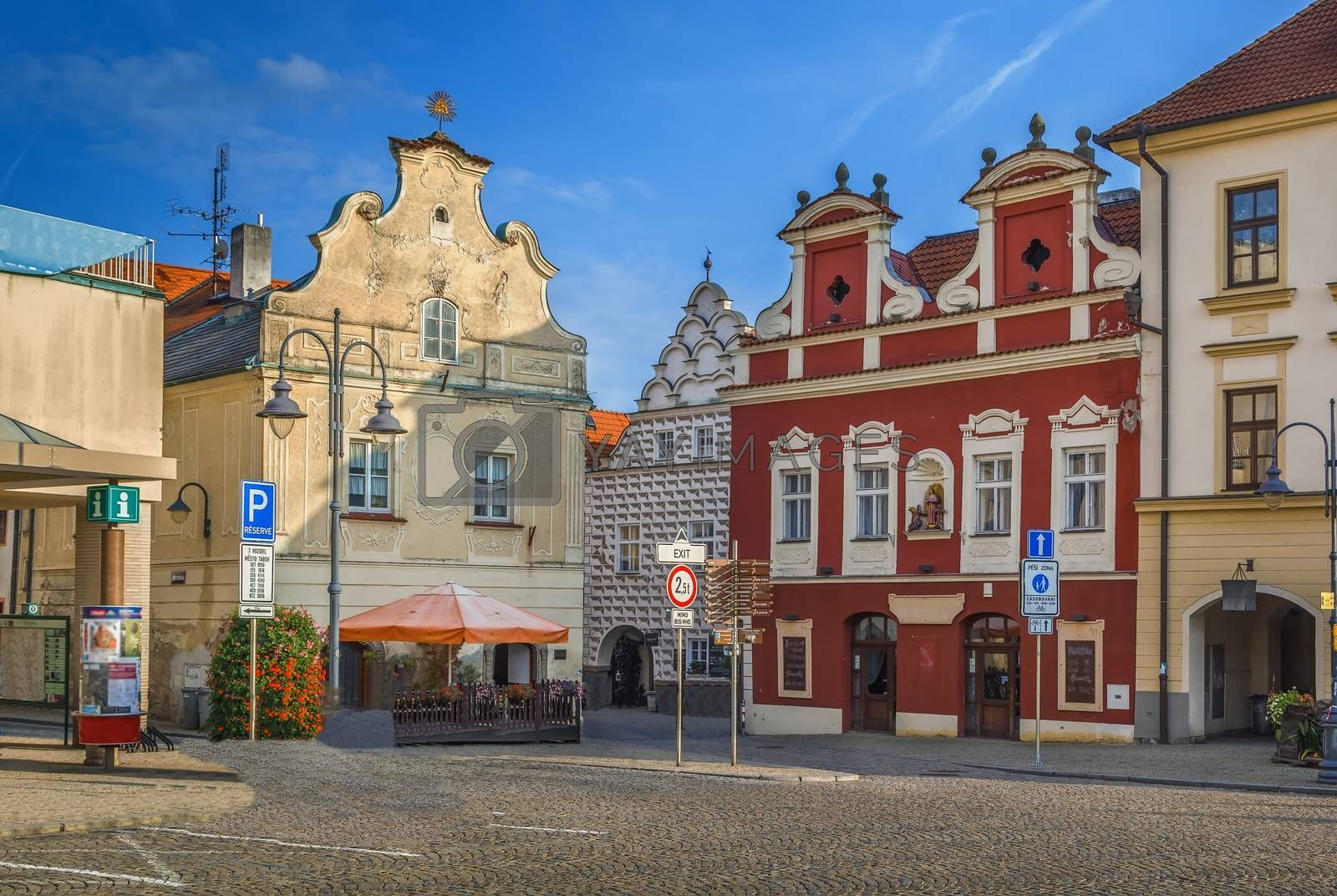 Main square of Tabor, Czech Republic by borisb17