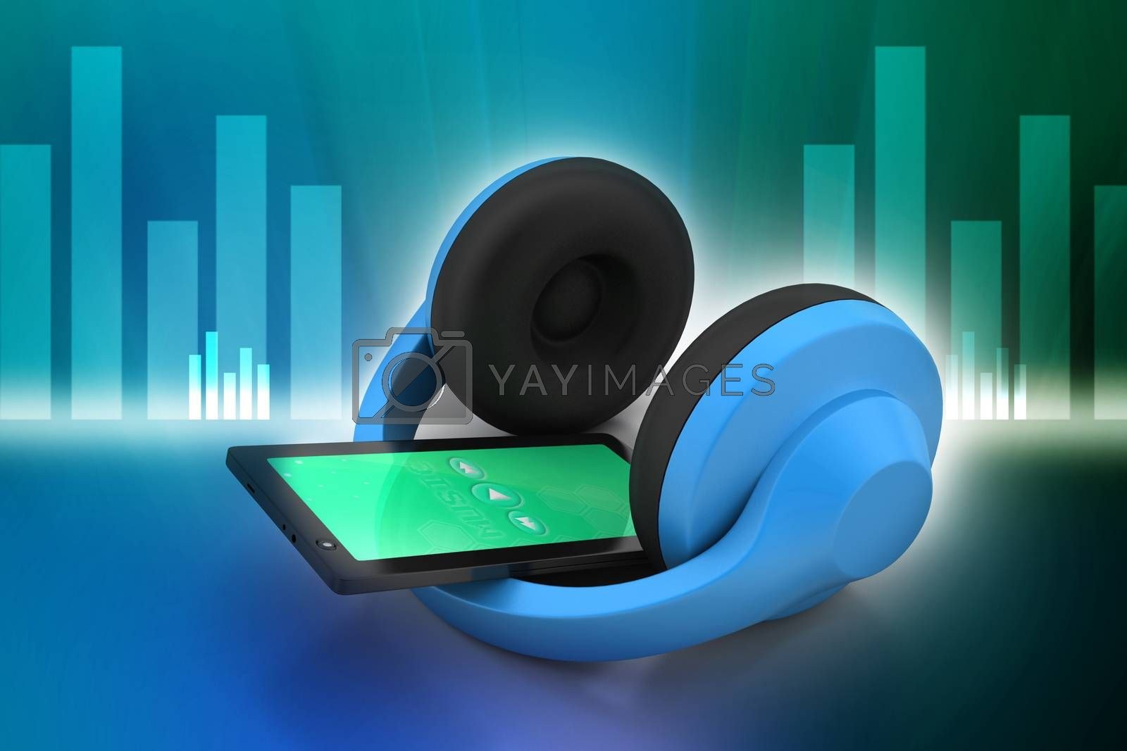 cell phone with headphones