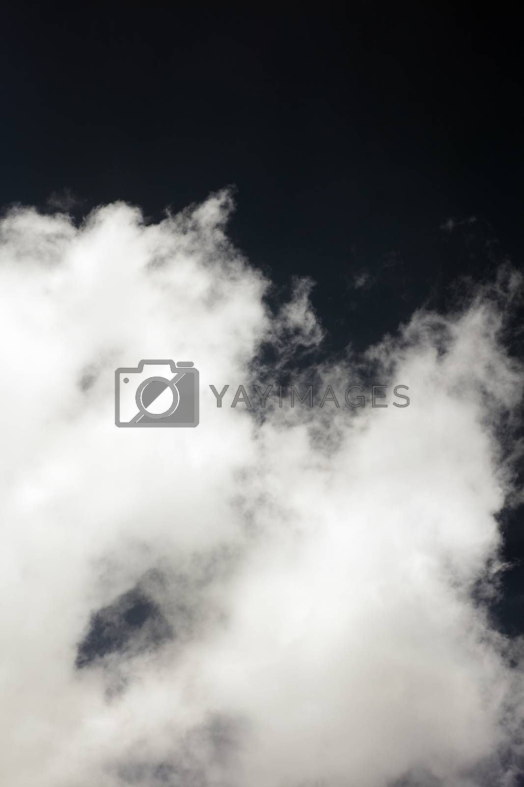 Black sky with white clouds dark mood space art fifty megapixels by BakalaeroZz Photography