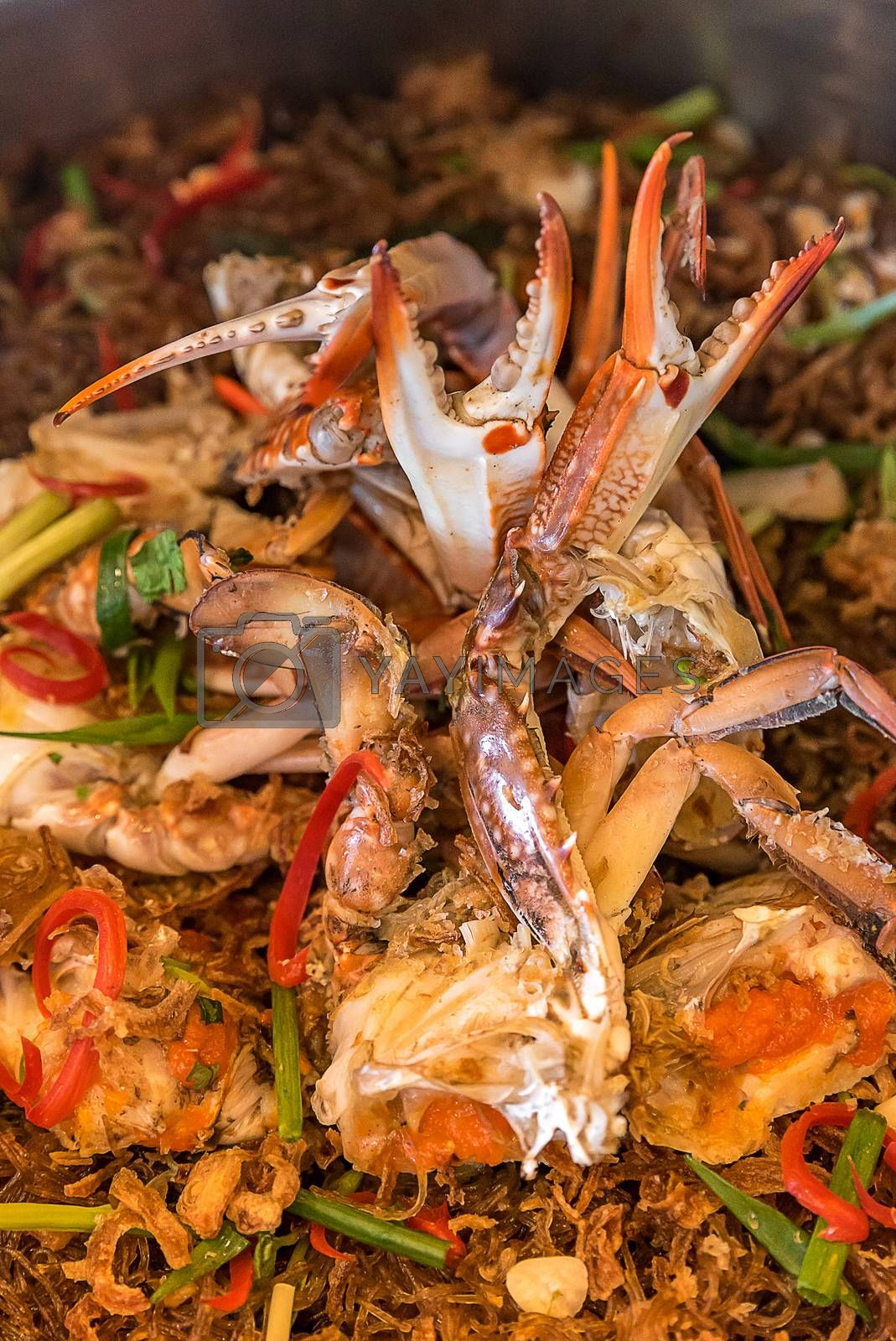 Hot Steamed Crabs with vermicelli