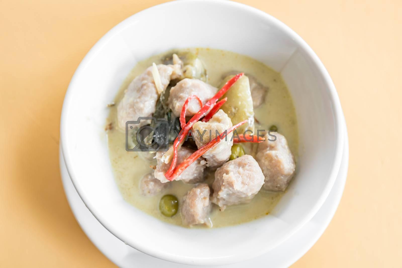 Fish ball Green Curry Thai Food