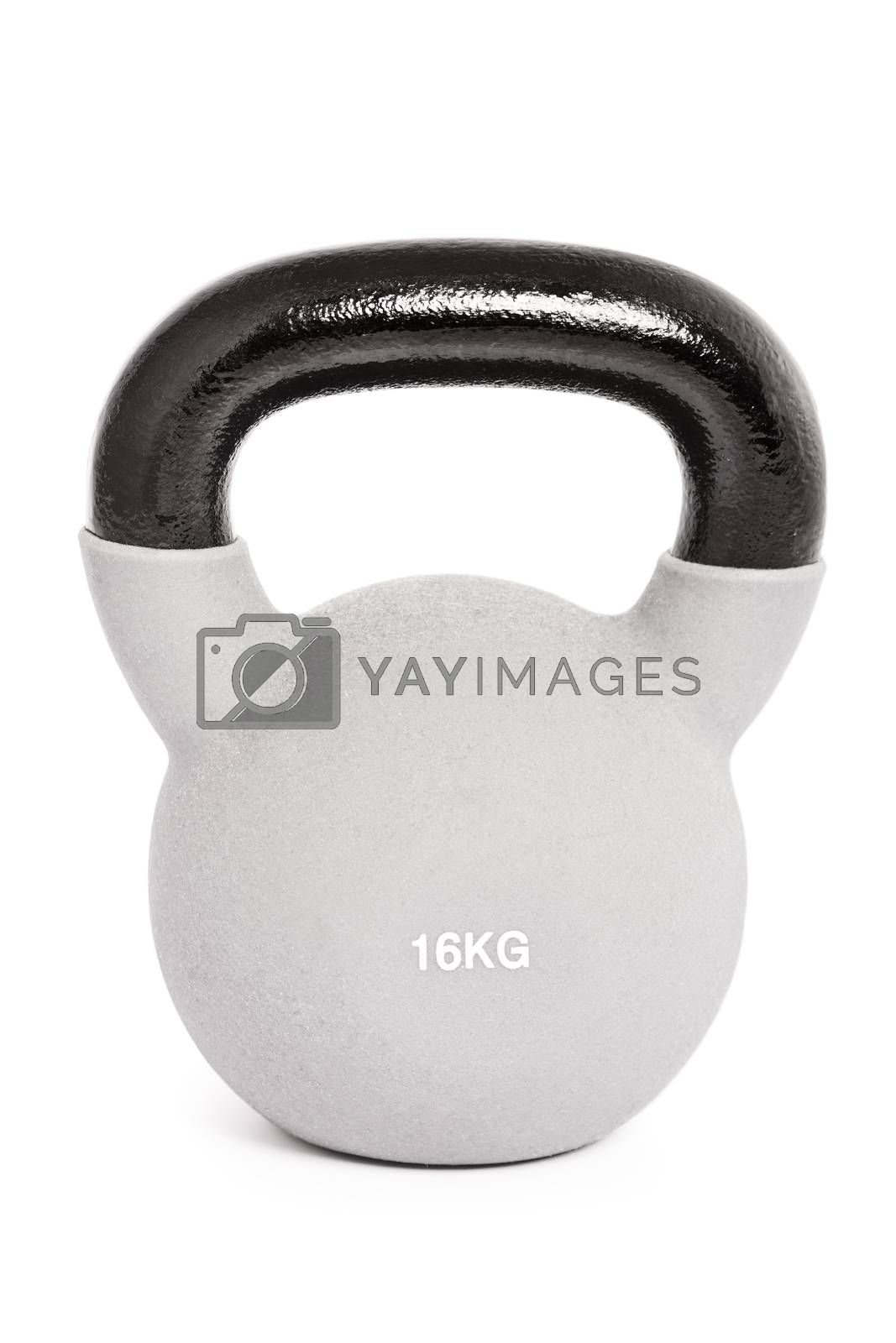 Kettlebell isolated on a white background.