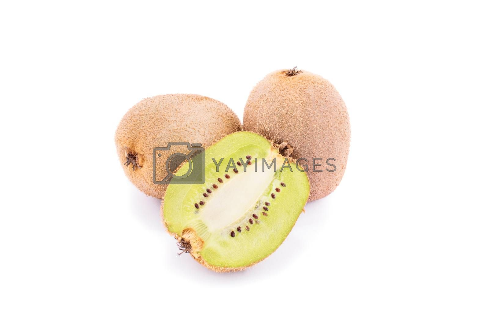Kiwi isolated on white background.