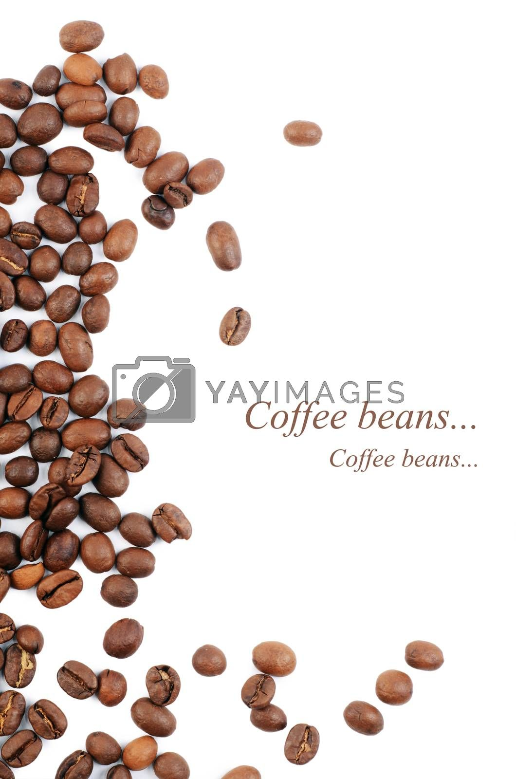 Royalty free image of The coffee beans isolated on white by SvetaVo