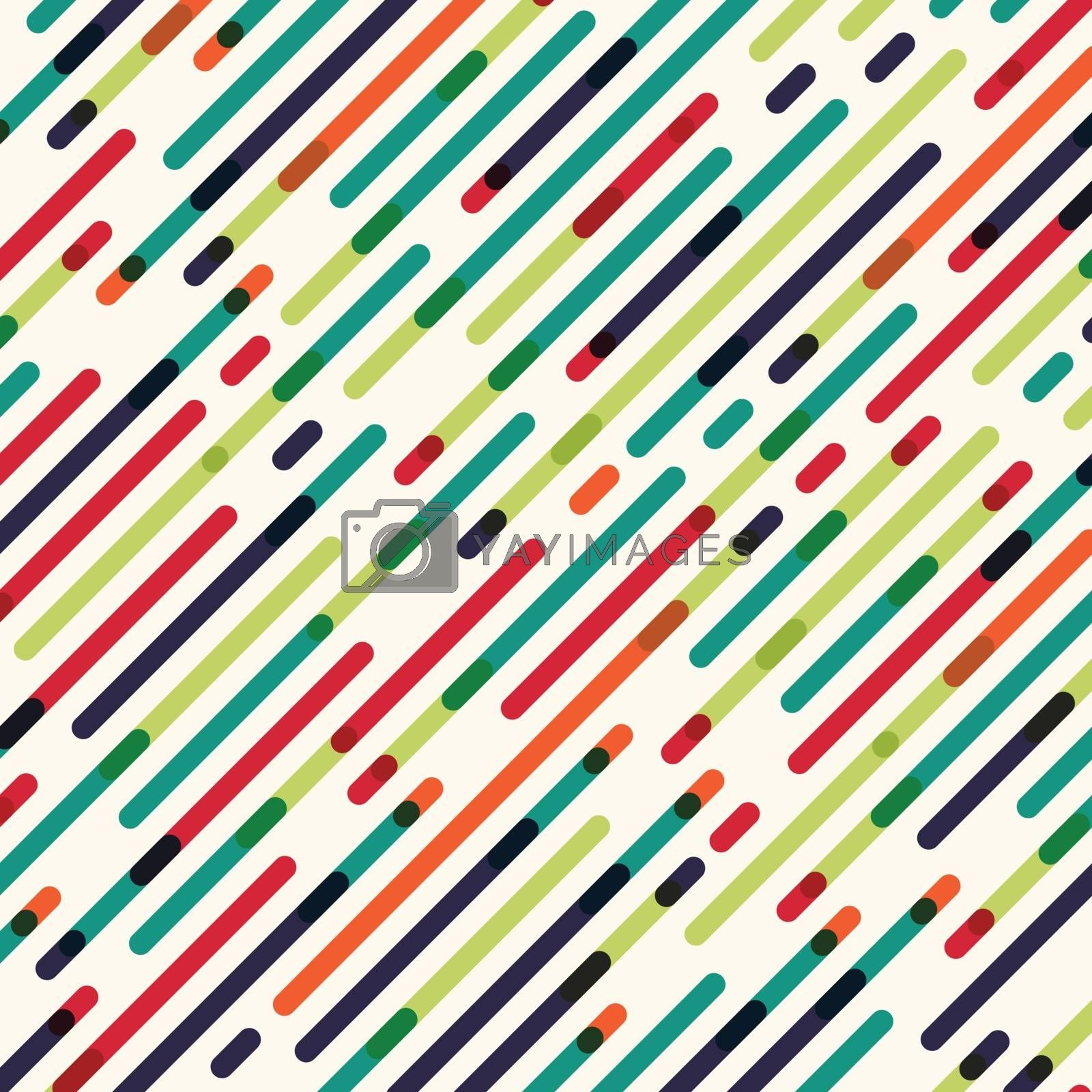 Abstract seamless diagonal Red Green and blue color lines pattern background. Vector illustration