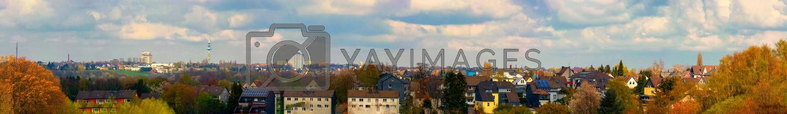 Panoramic view of the city of Velbert        by JFsPic