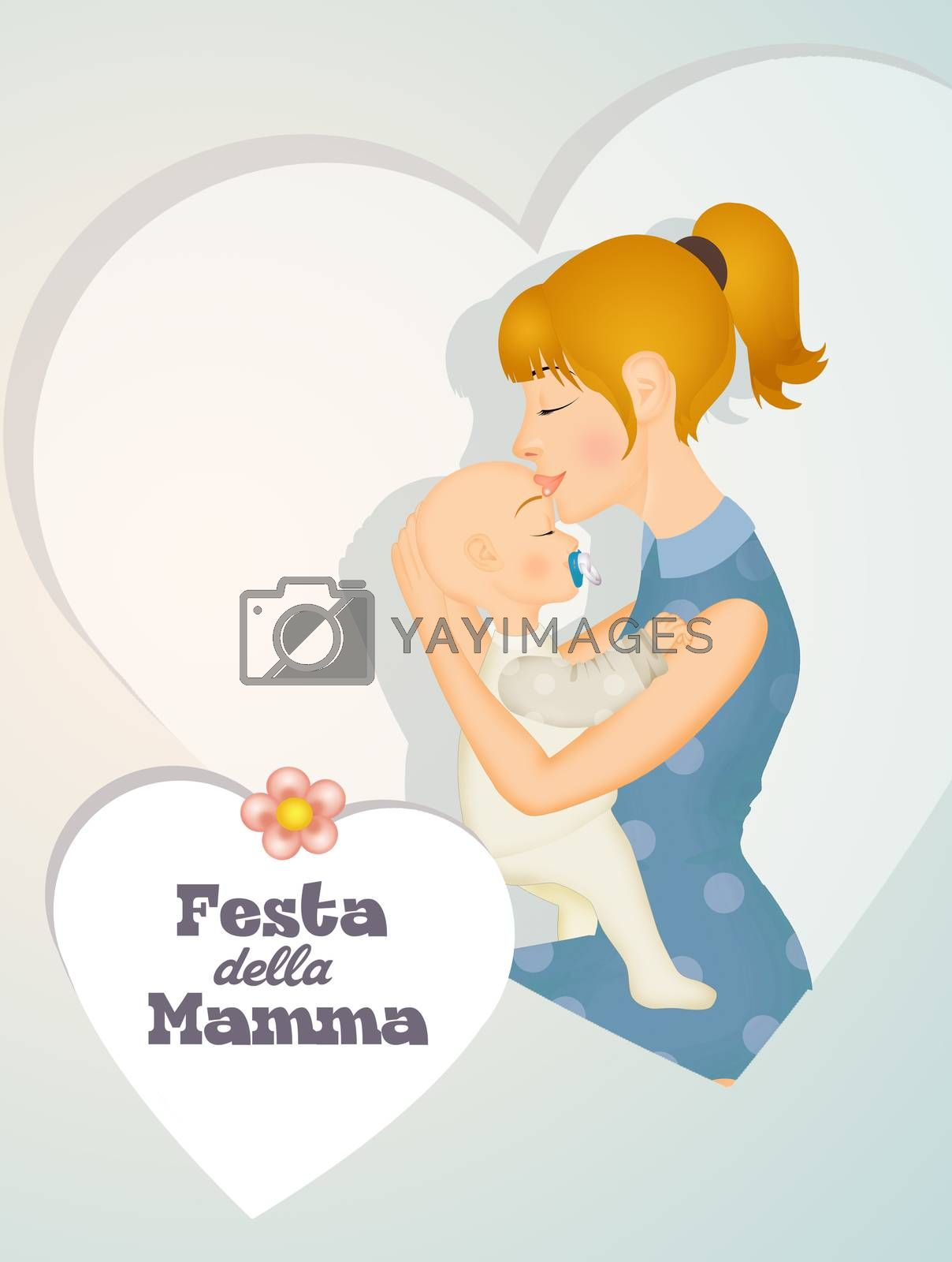 illustration of happy mothers day
