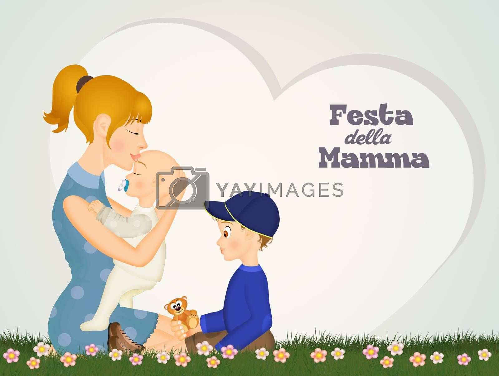 illustration of mothers day