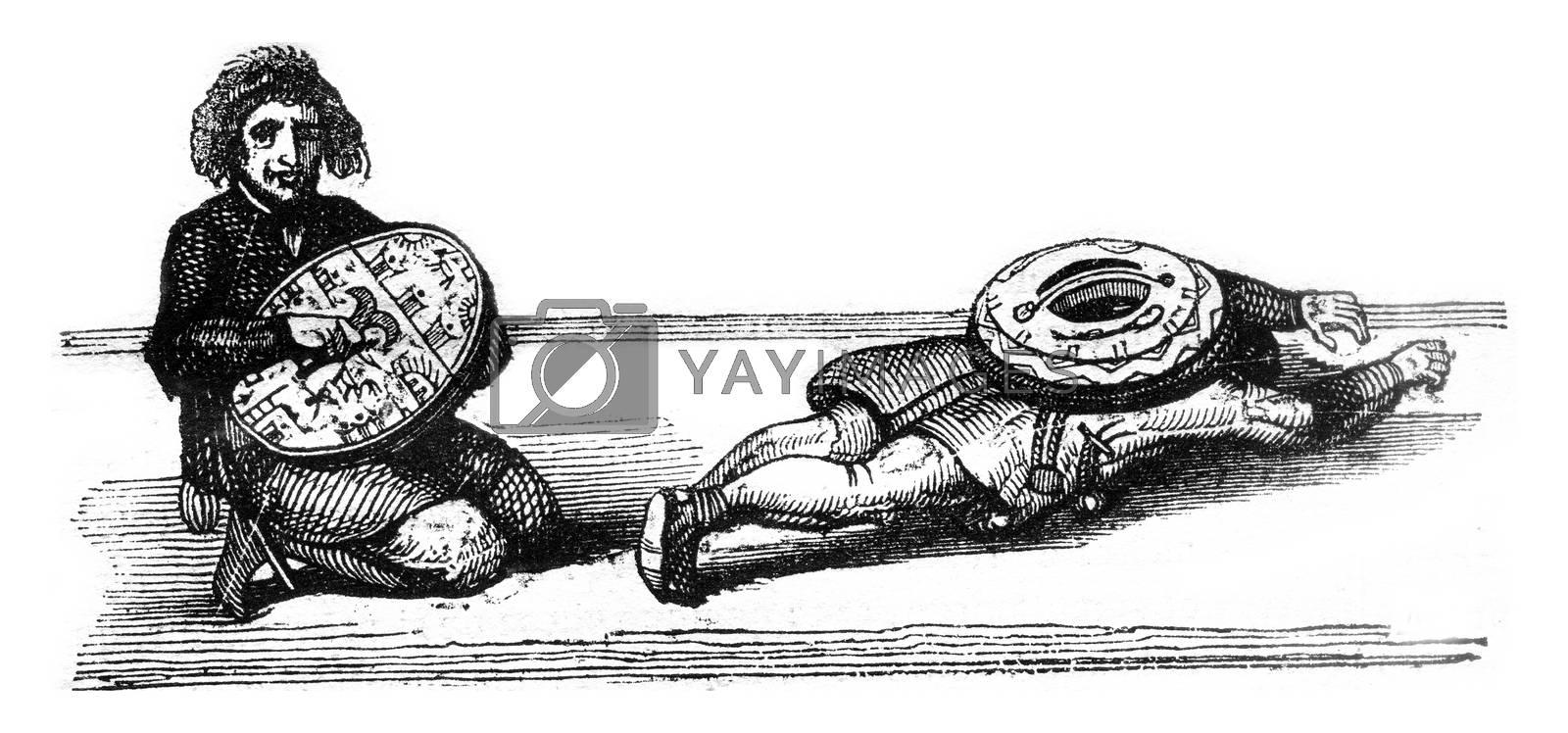 Consultation runboom, vintage engraved illustration. Magasin Pittoresque 1841.