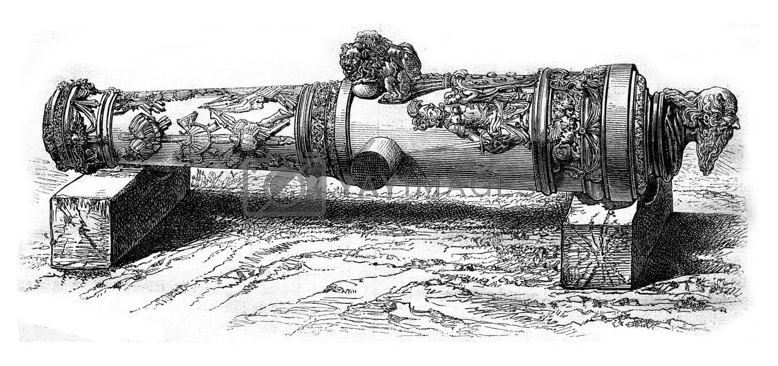 The Cannon St. Paul, National Museum of Florence, vintage engrav by Morphart
