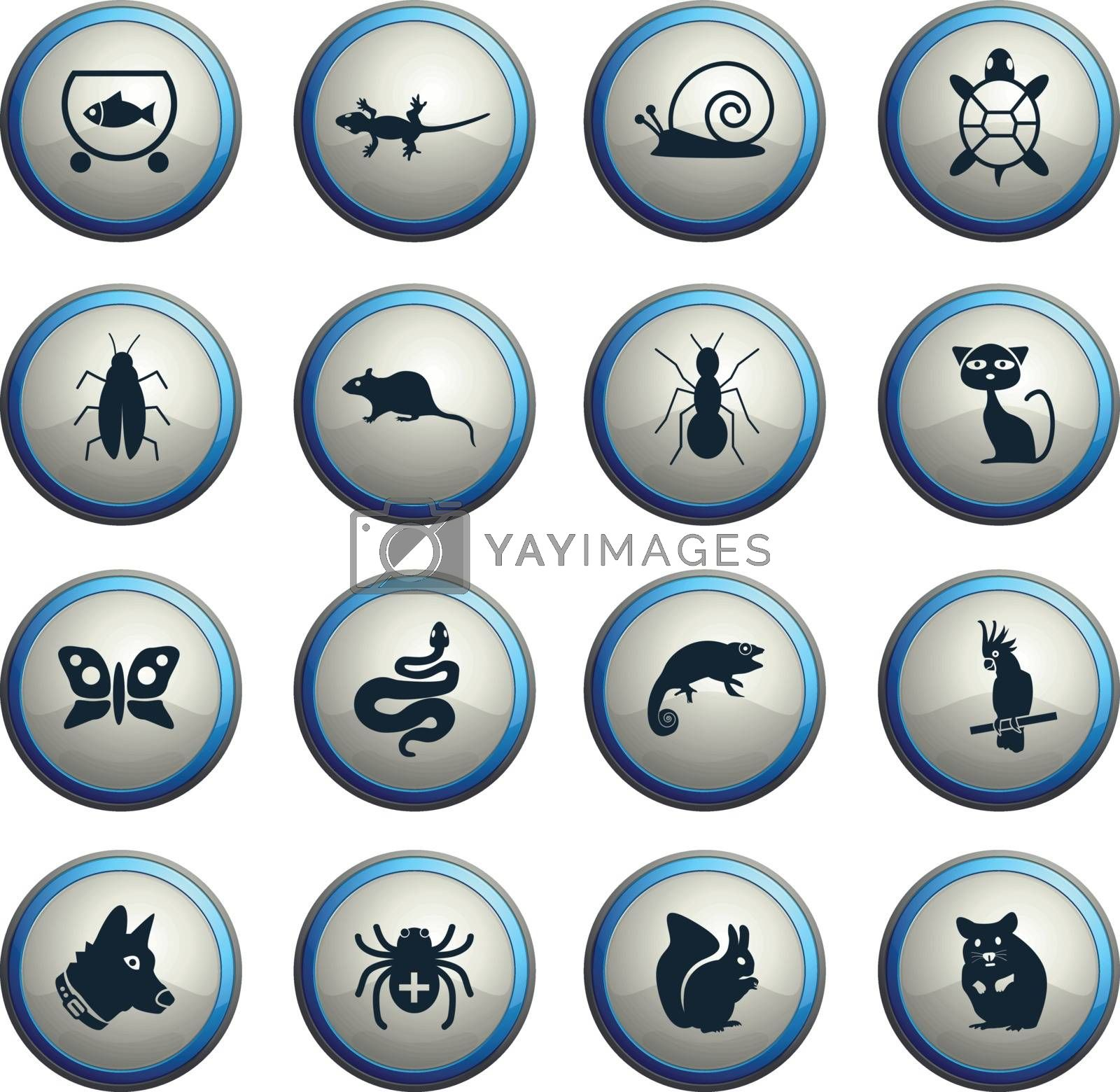 pets web icons for user interface design