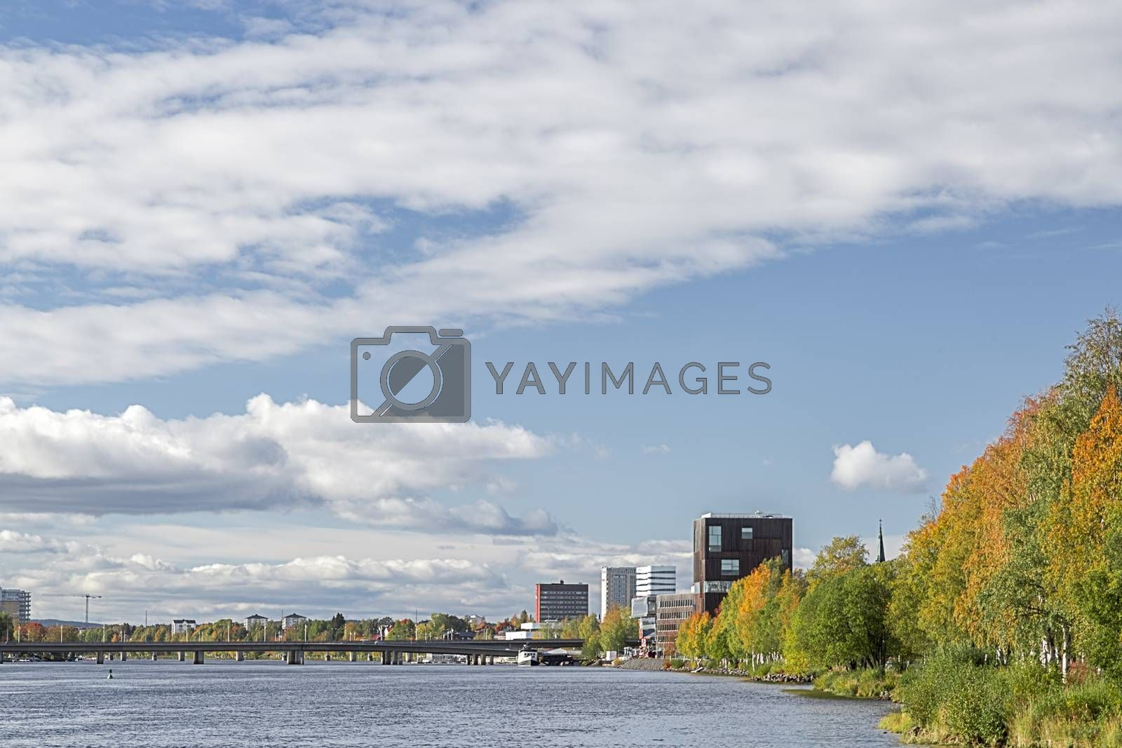 Royalty free image of Downtown Umeå, Sweden in Fall by Emmoth